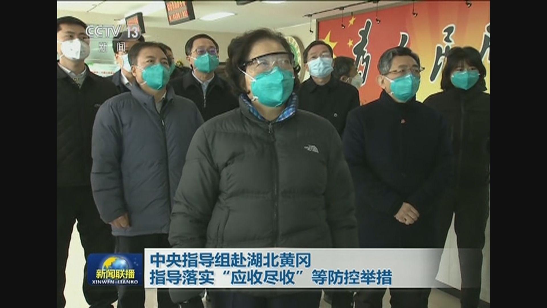 副總理孫春蘭到湖北黃岡市指導防疫工作