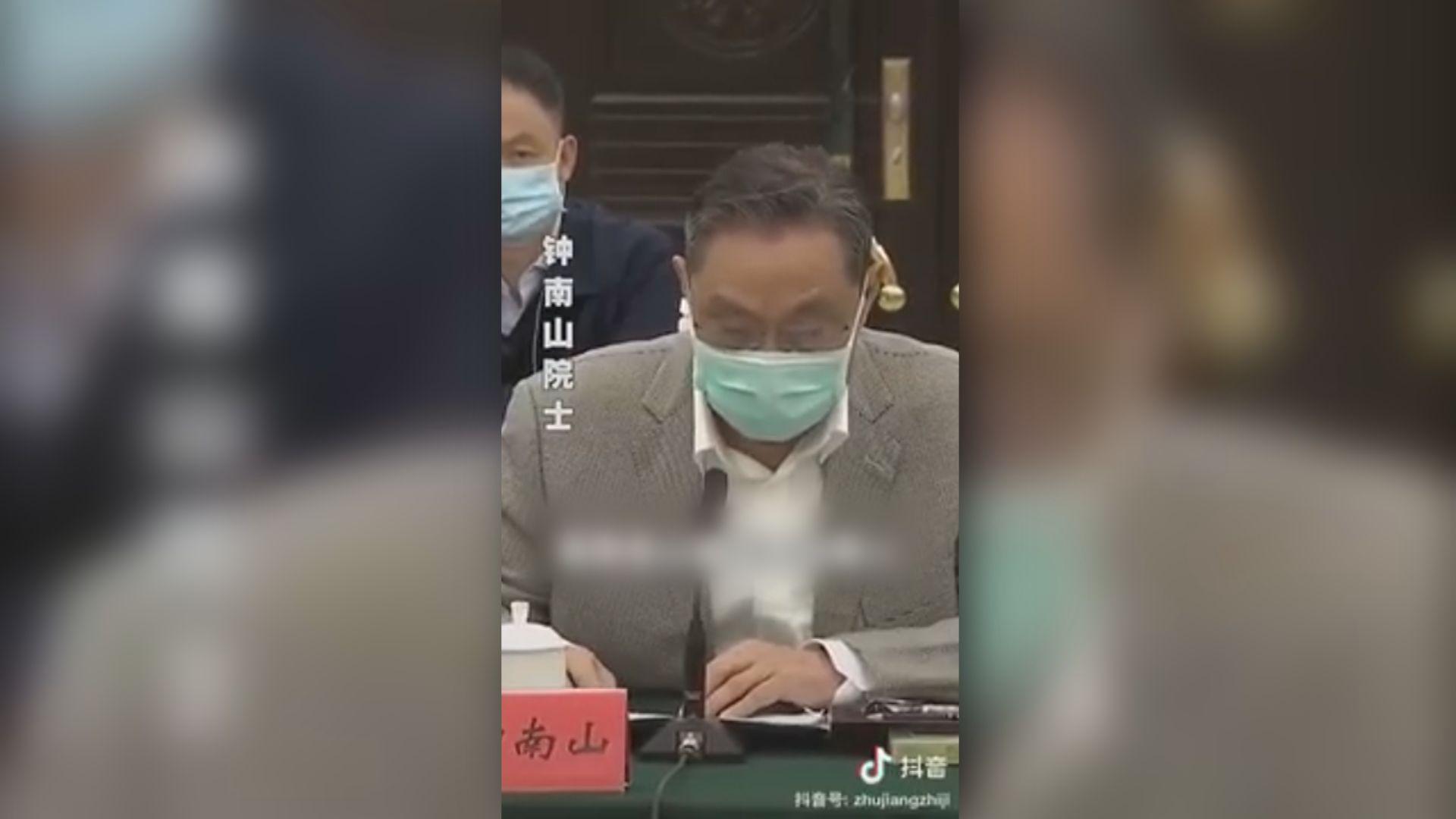 鍾南山:未來內地要嚴防輸入個案