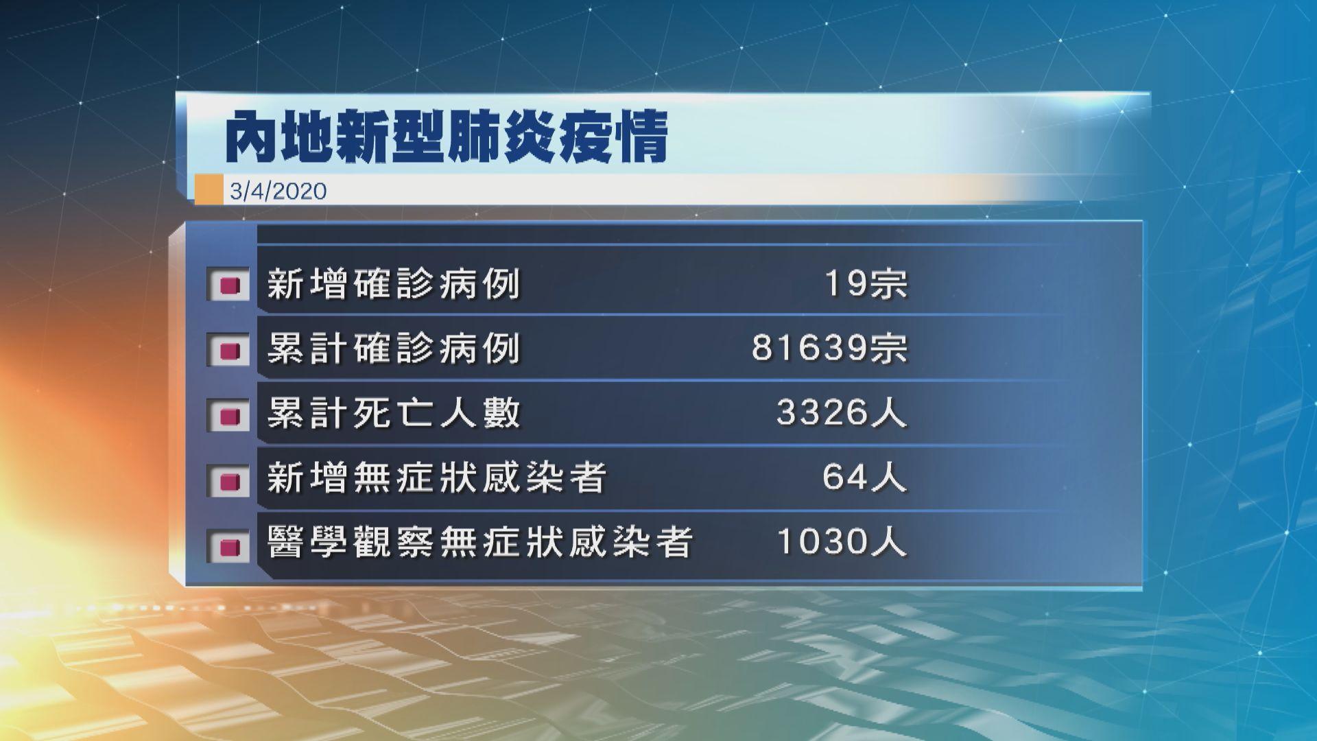 內地昨日新增19宗確診 武漢相隔近兩周再添病例