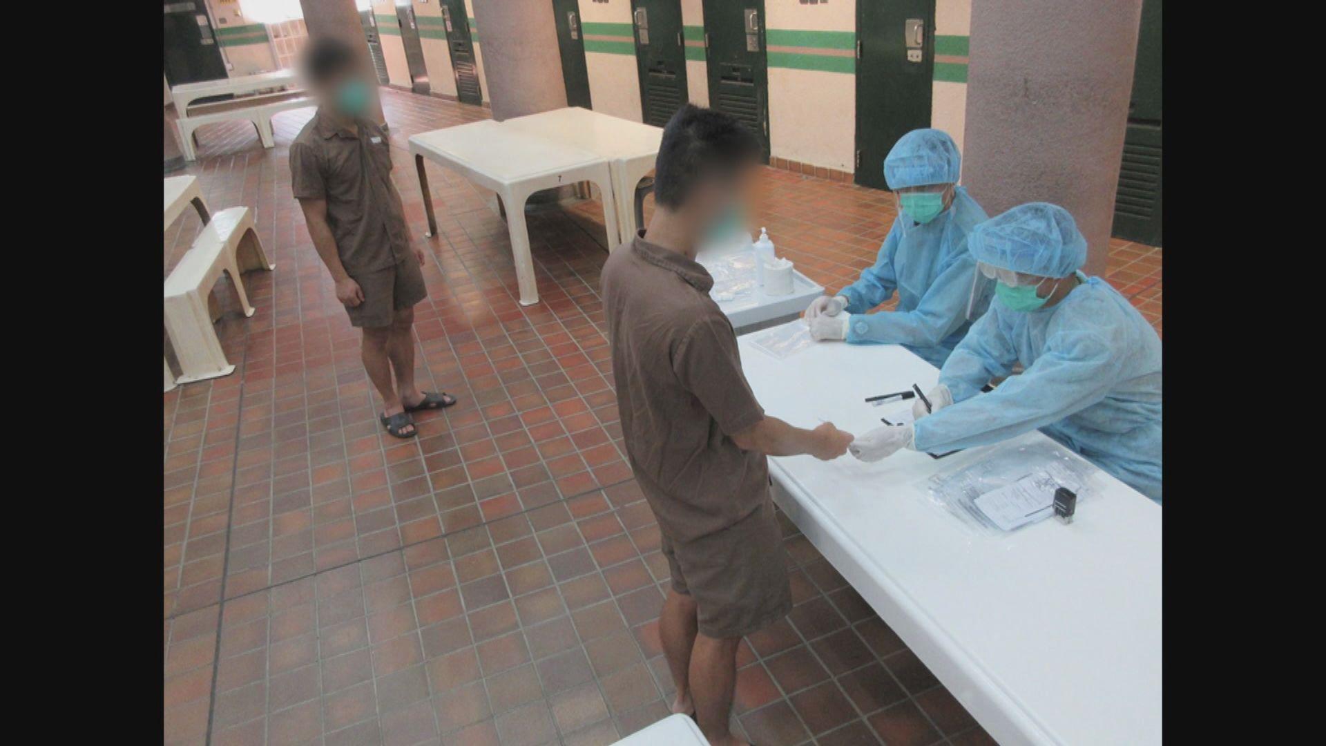 約7000名在囚人士新冠病毒測試陰性 5人拒交樣本