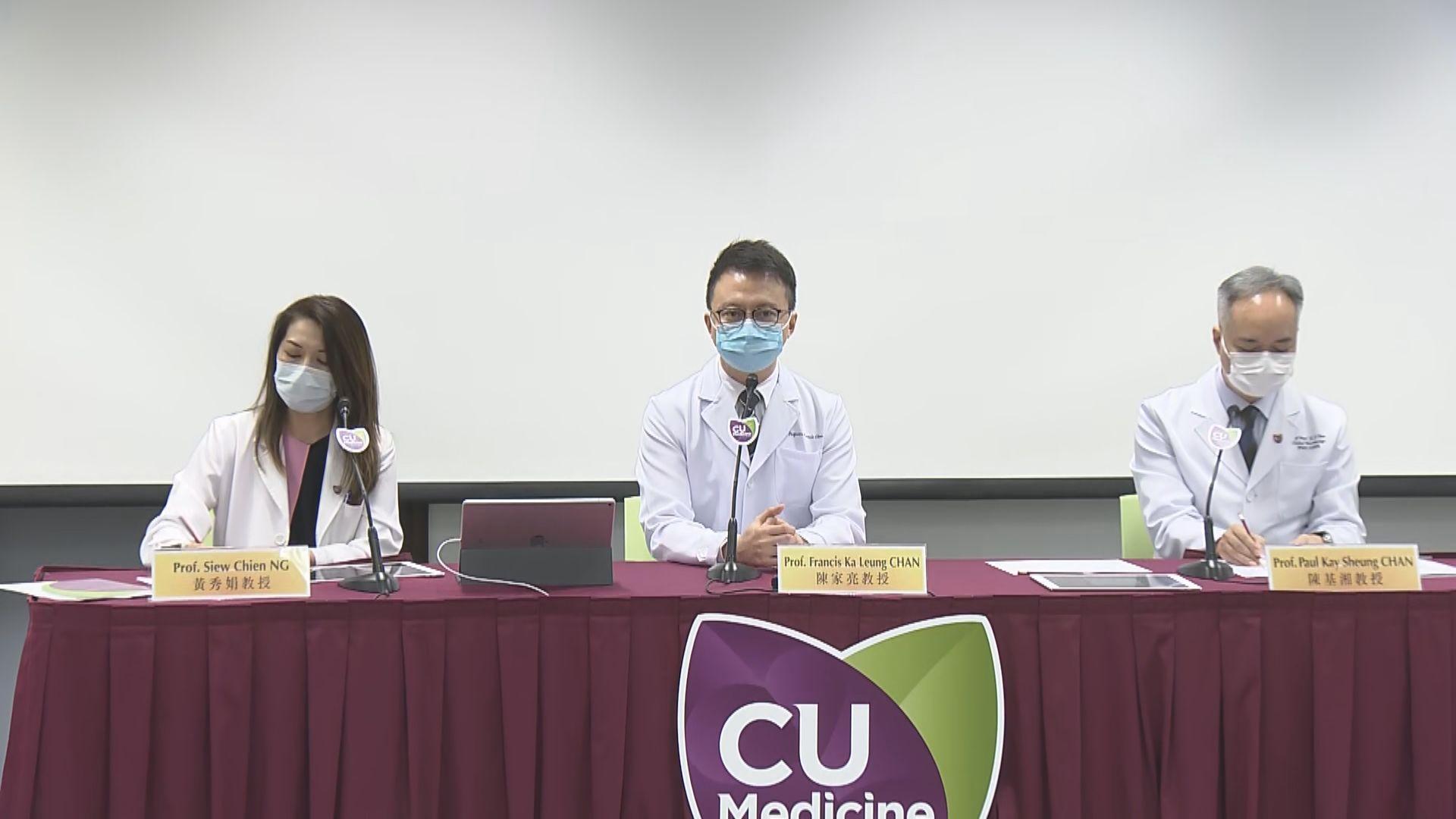 中大醫學院:患者出院後須作監測 避免出現糞便傳播