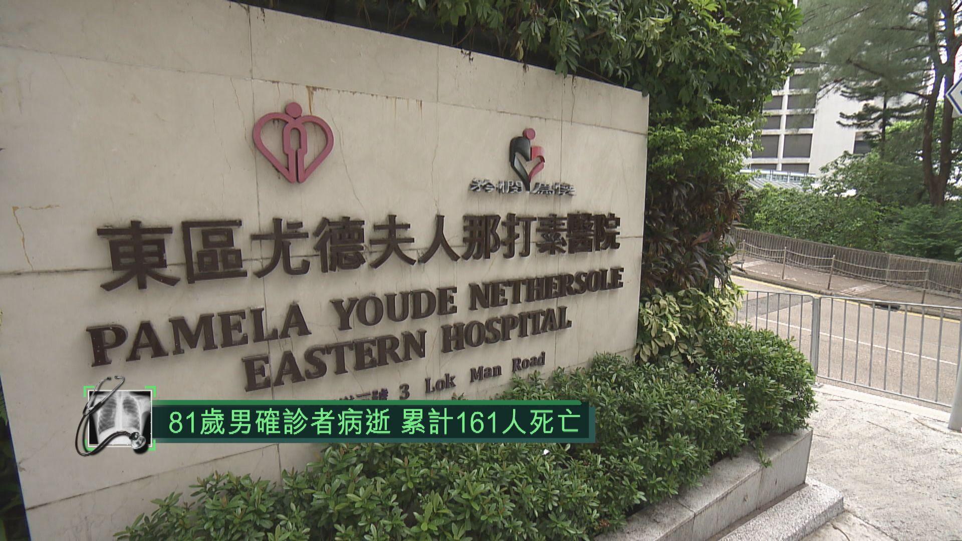 81歲新冠病毒男確診者病逝 累計161人死亡
