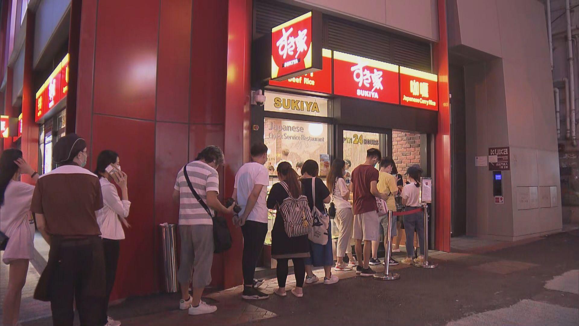 晚市不准堂食 食肆外賣現人龍