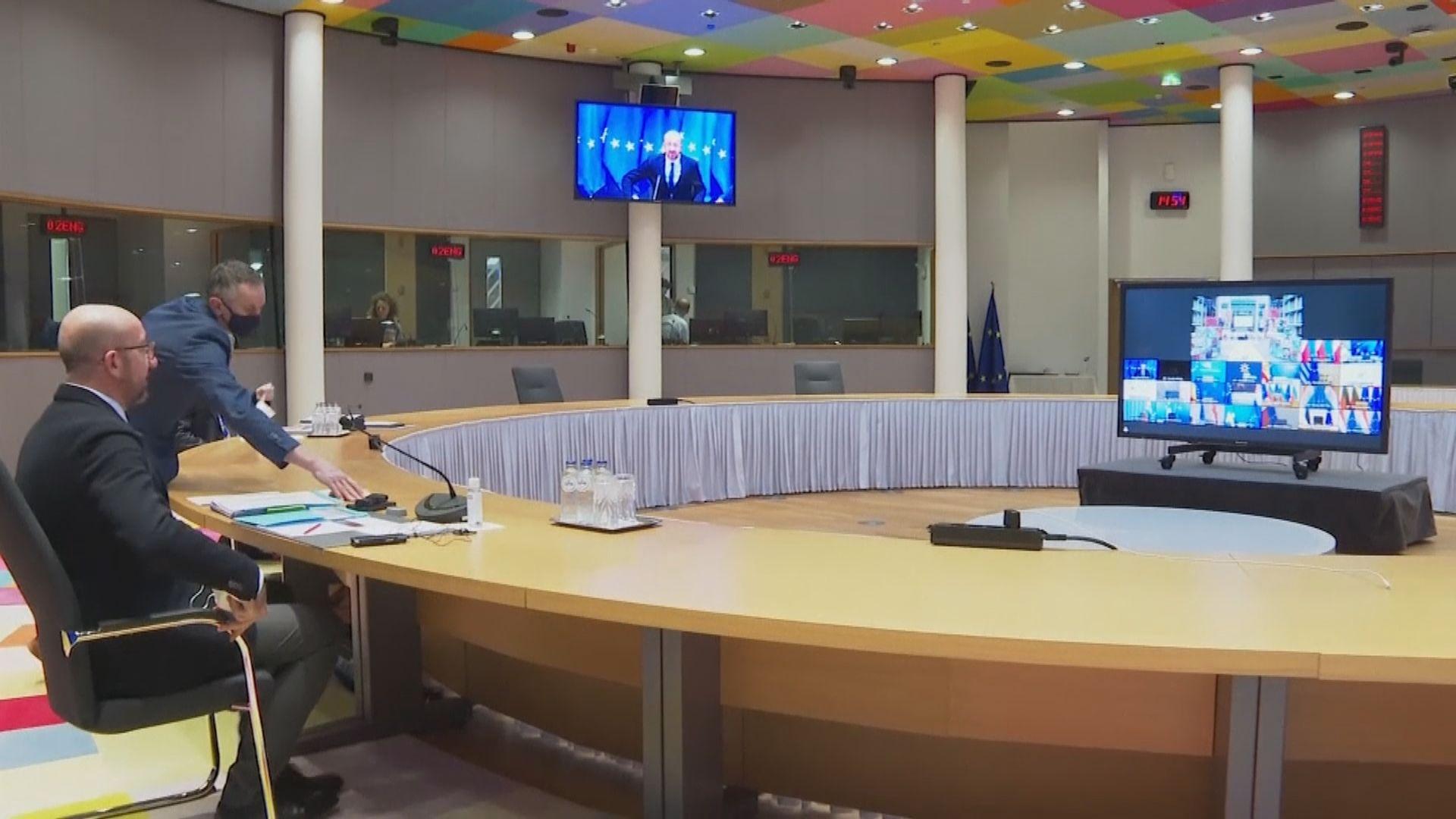 歐盟召開峰會商討新冠病毒疫情