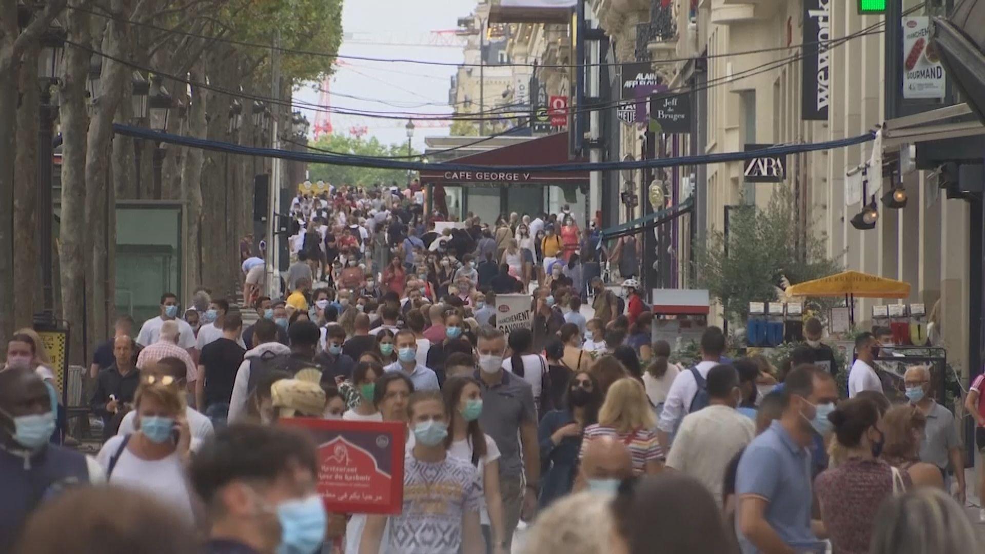 法國連續兩天錄得逾三千宗新增確診