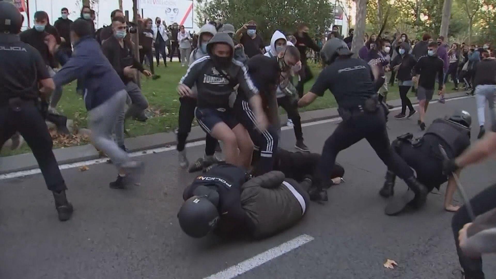 西班牙增過萬宗確診個案 民眾抗議限制措施嚴格