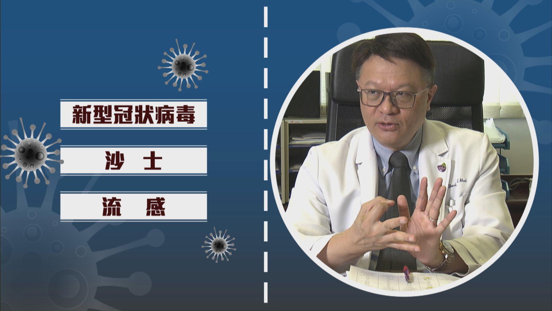 【專家話你知】新型冠狀病毒、沙士、流感有何分別?