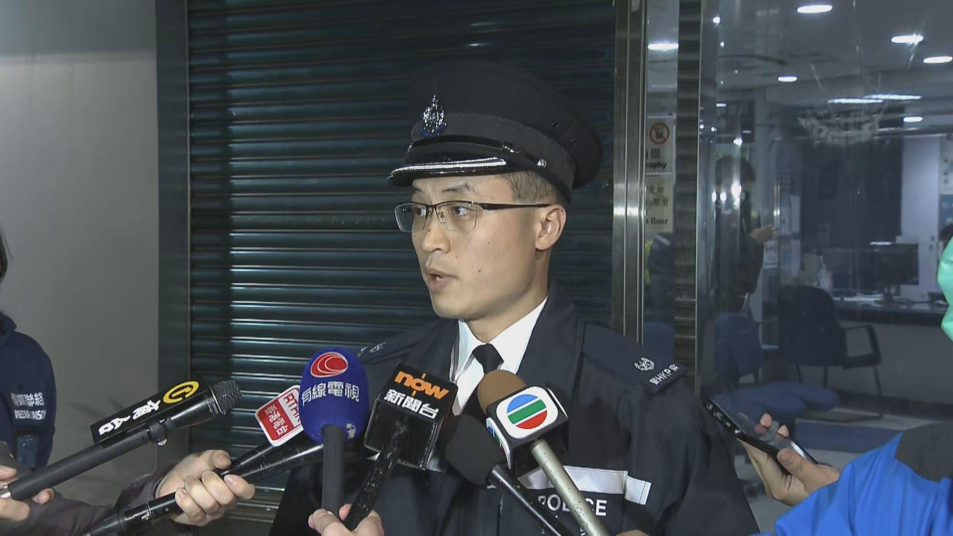 警方在粉嶺華明路一帶拘捕11人
