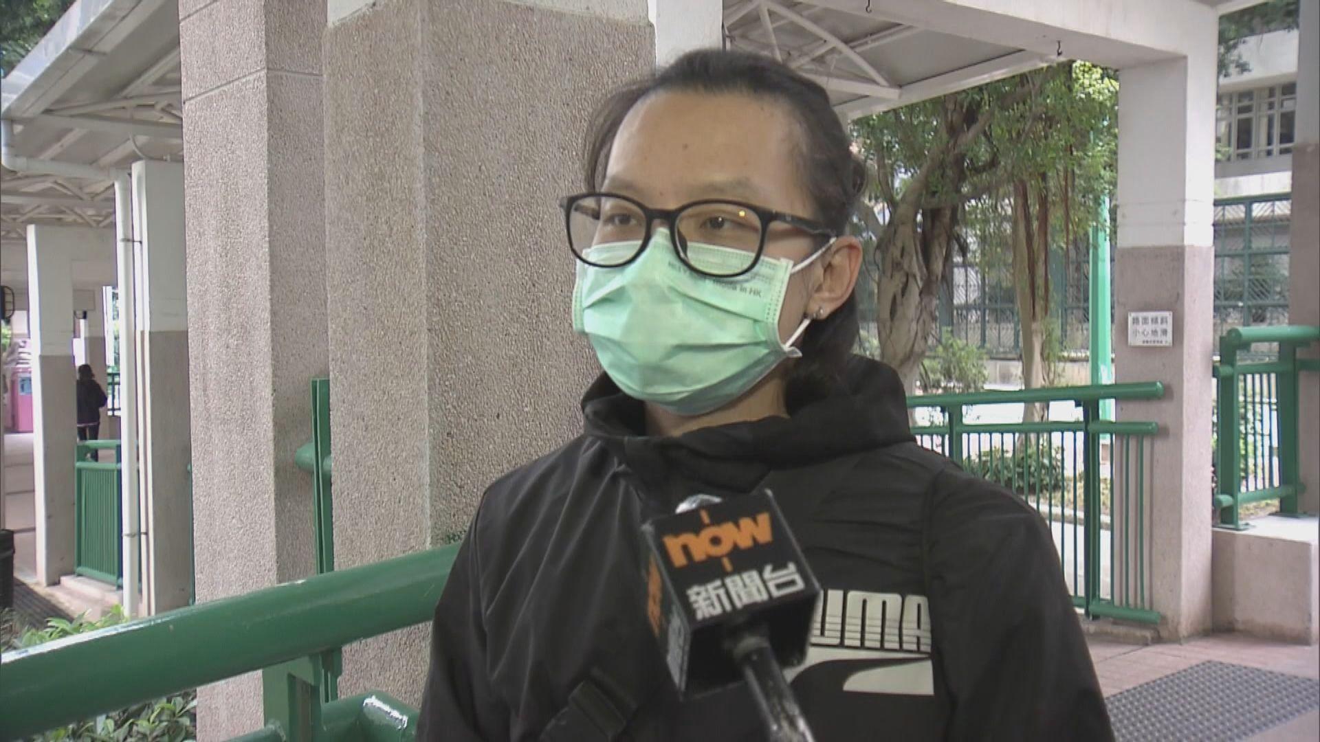 有錦豐苑住客指政府應同時進行強制檢測及禁足