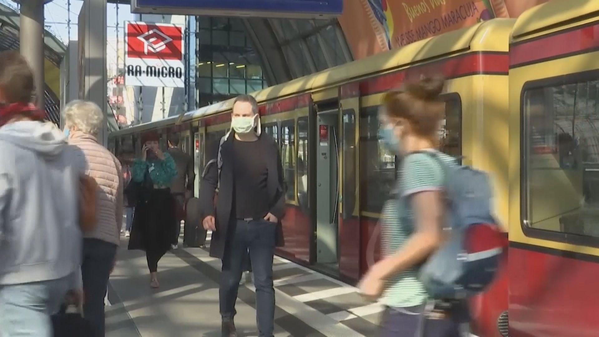 德國新冠病毒傳染率在放寬限制後出現反彈