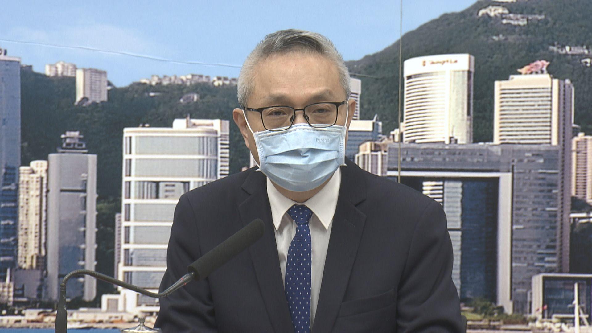 徐德義:租用酒店安排維持多久視乎疫情發展