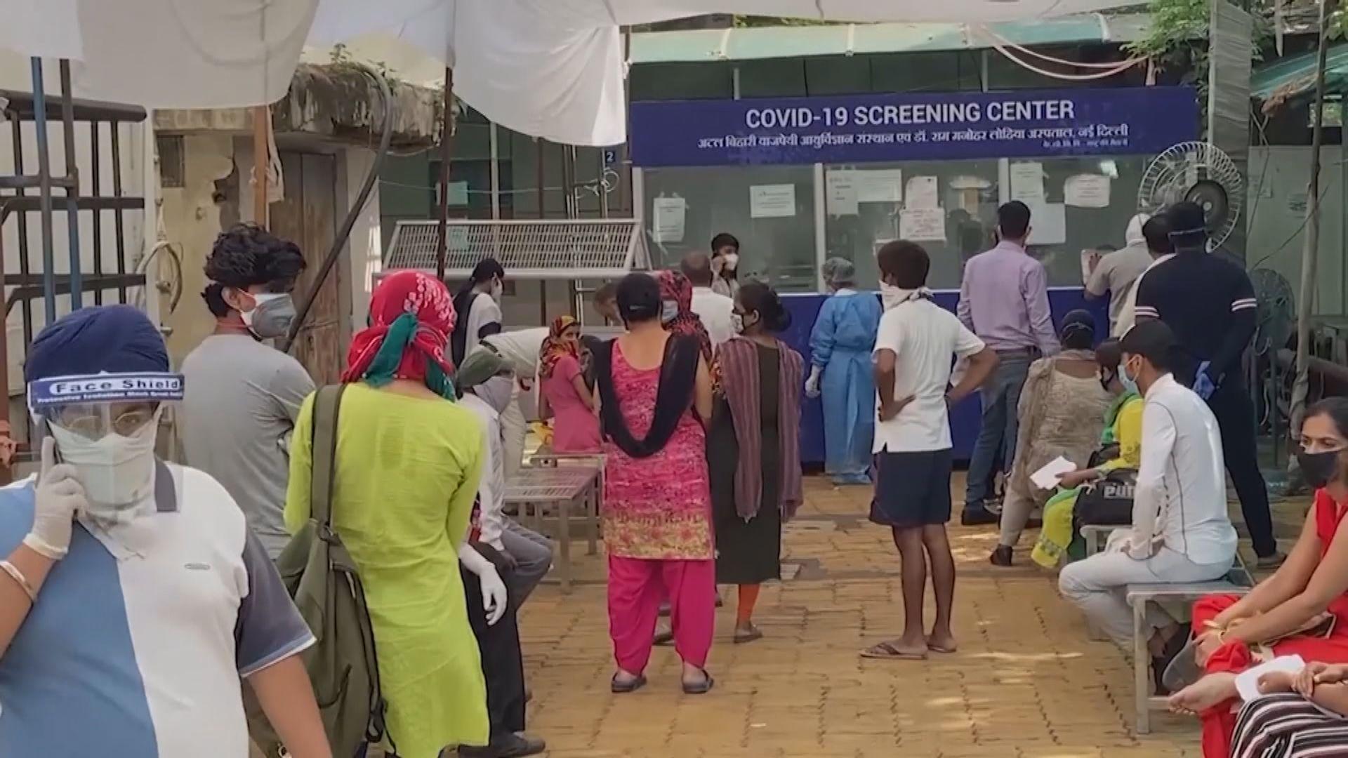 印度新增3萬8千多宗確診 創單日最高