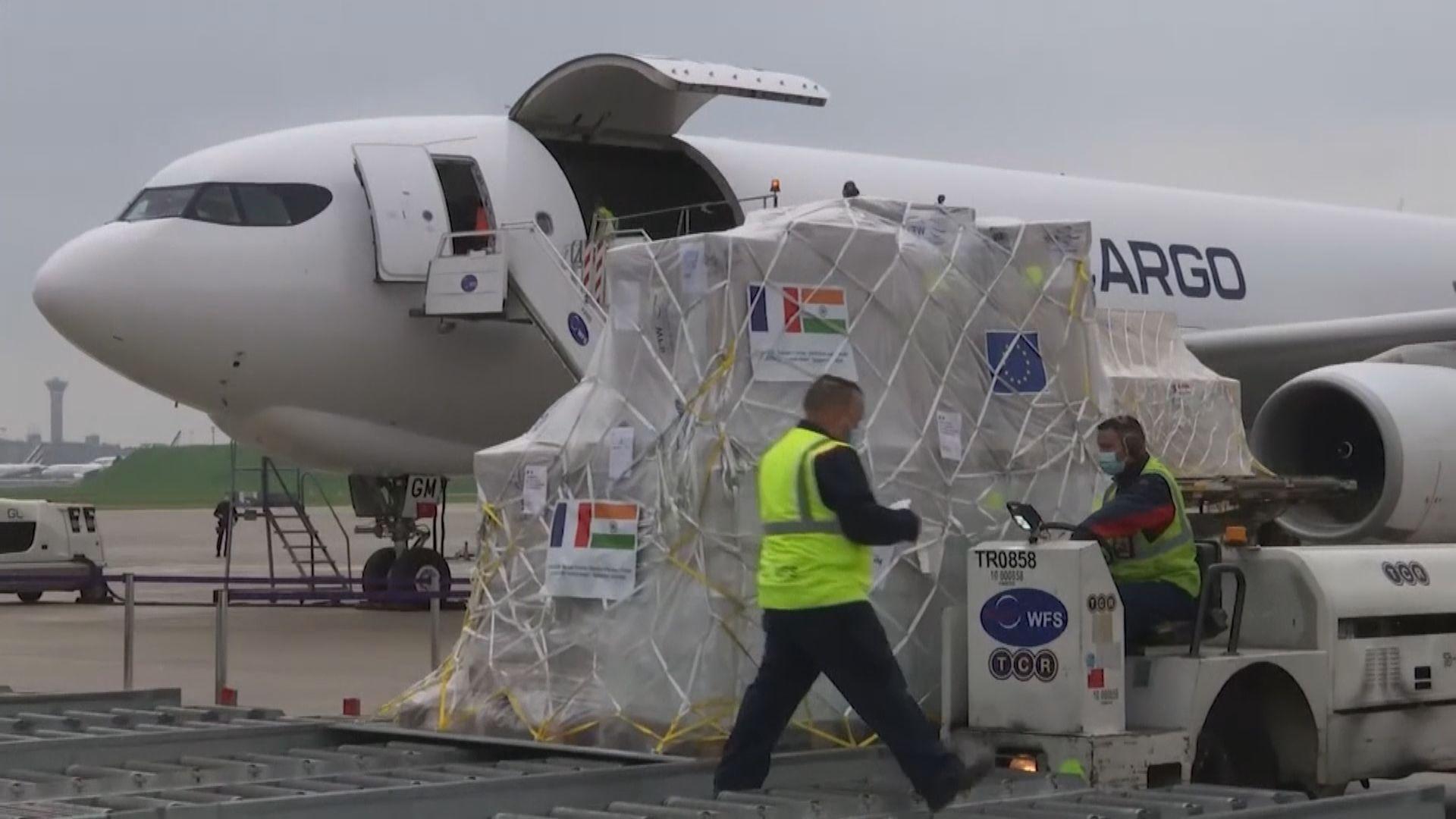 中國運送製氧機等醫療物資到印度