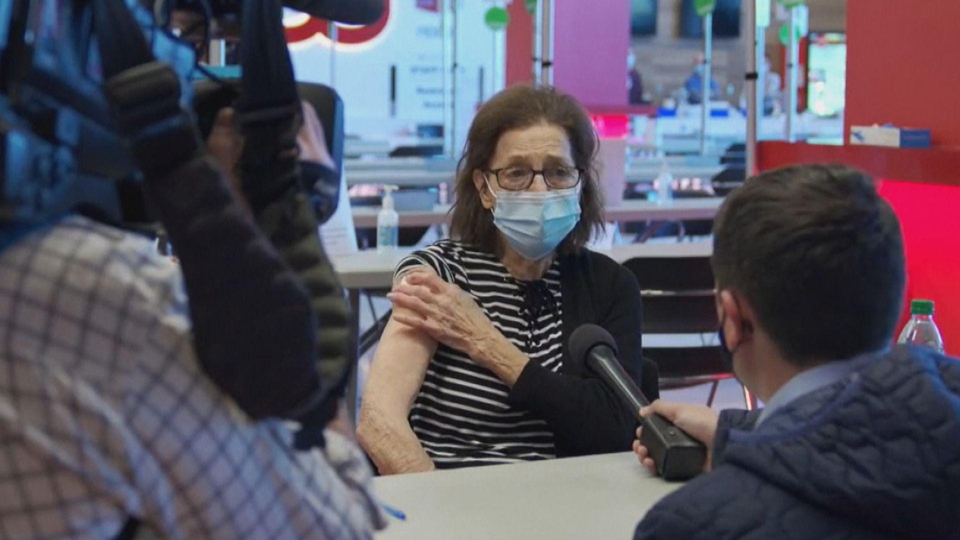 美國開始為民眾接種強生新冠疫苗