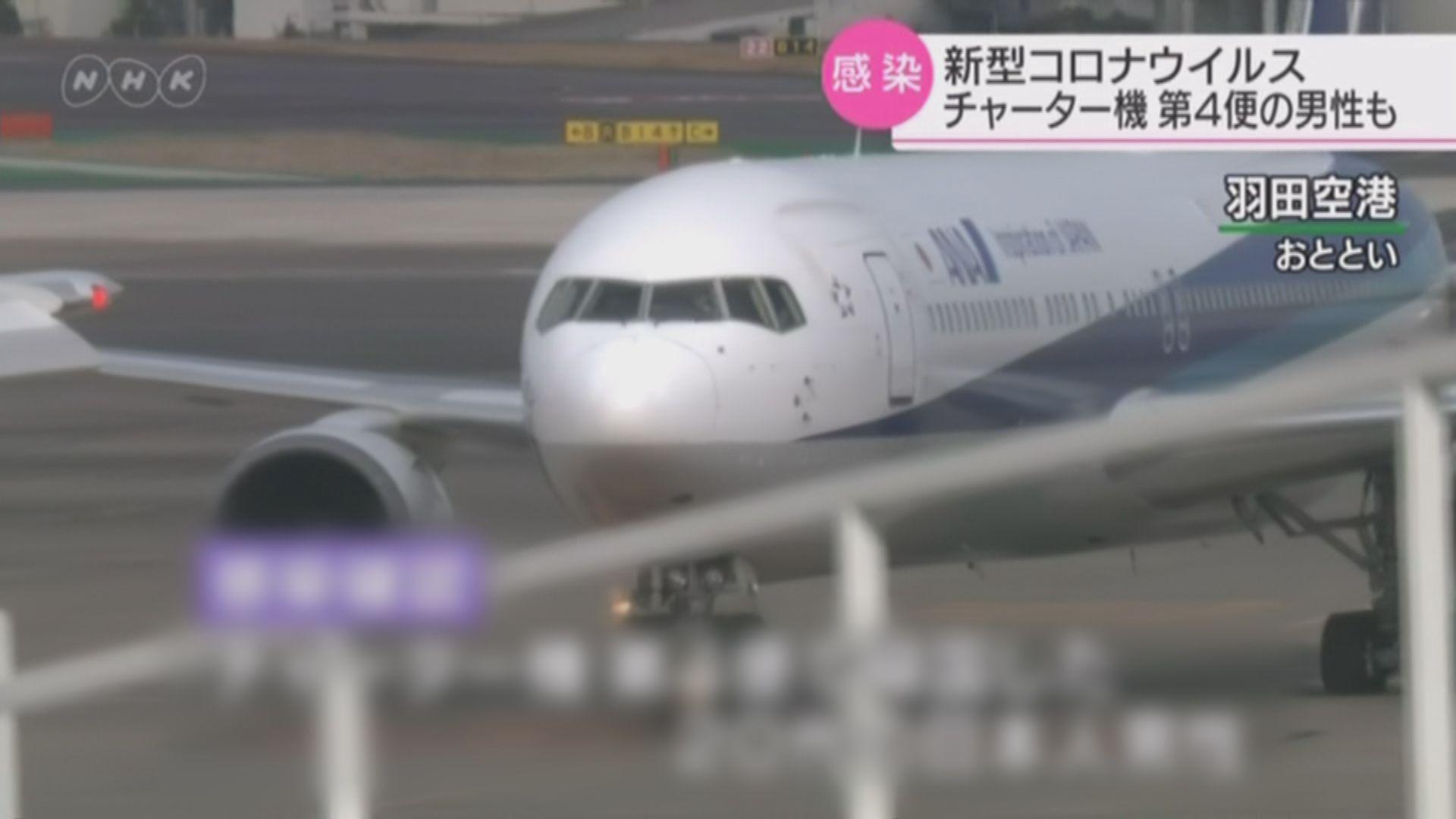 日本一名男子乘包機返回日本後確診染病