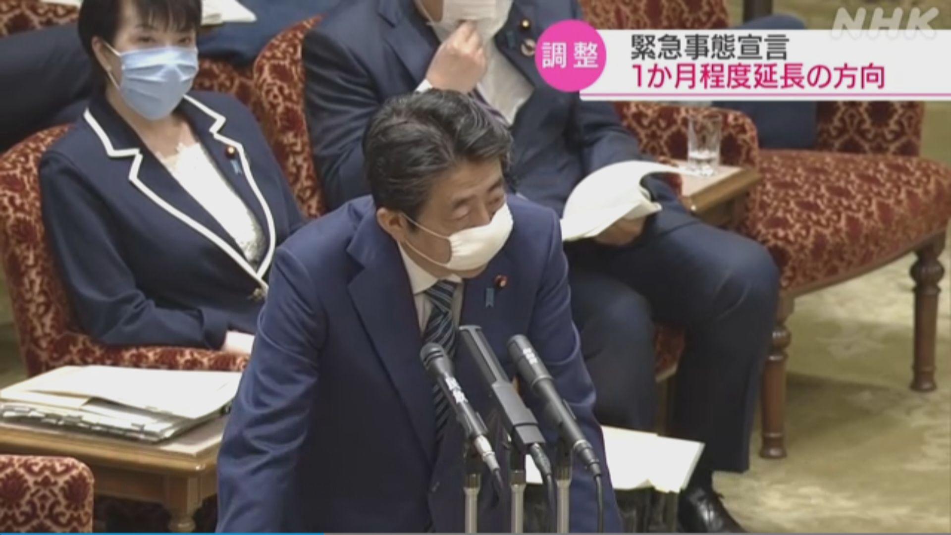 日本政府擬延長全國緊急狀態宣言一個月
