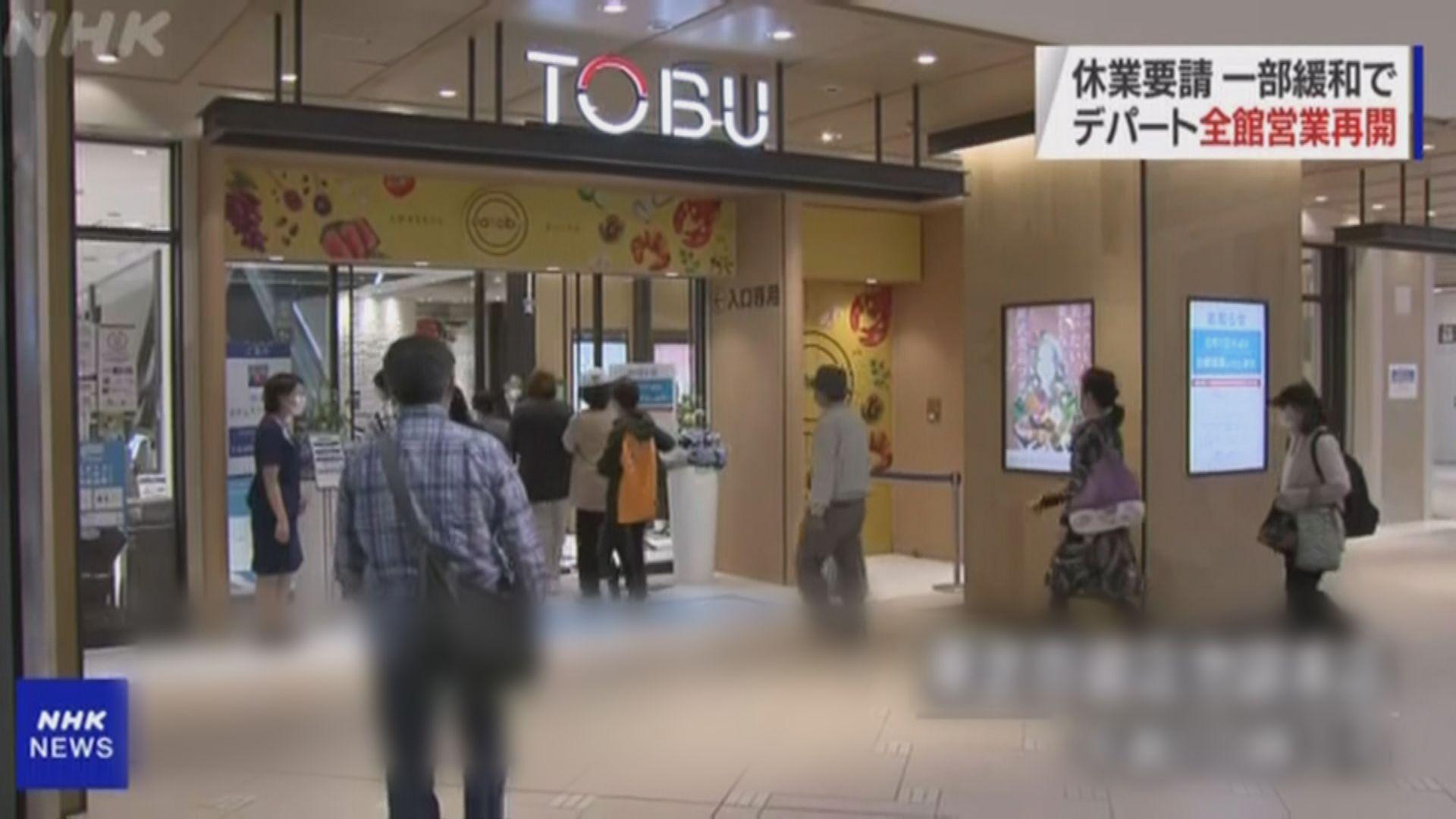 東京和大阪百貨公司獲放寬營業限制