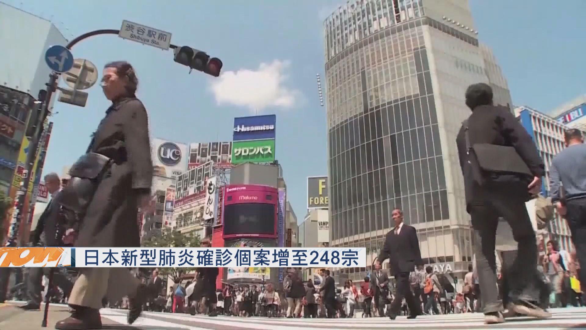 日本新型肺炎確診個案增至248宗