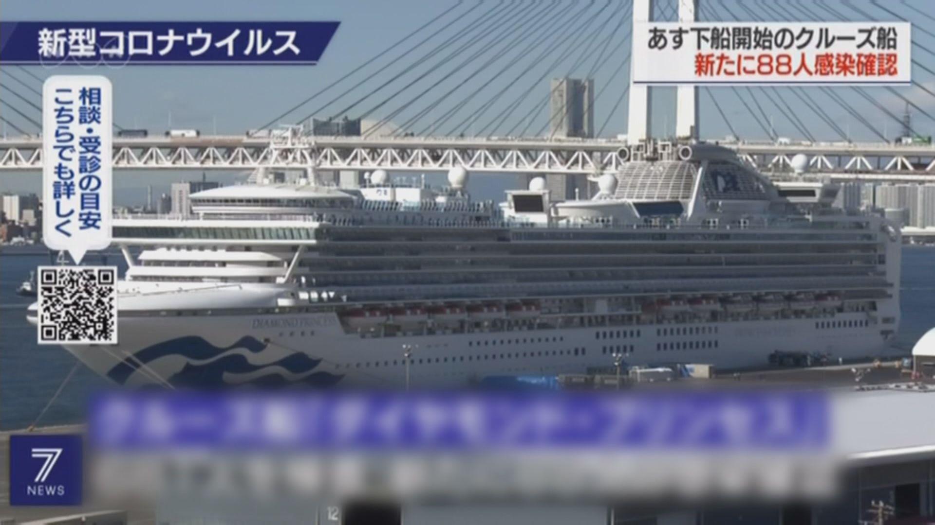 鑽石公主號約五百名乘客周三可下船
