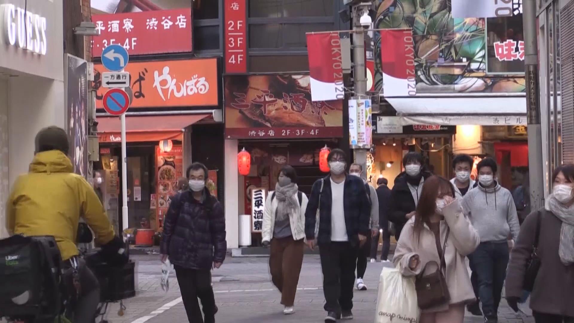 日本證實最少兩名確診者對英國變種病毒檢測呈陽性