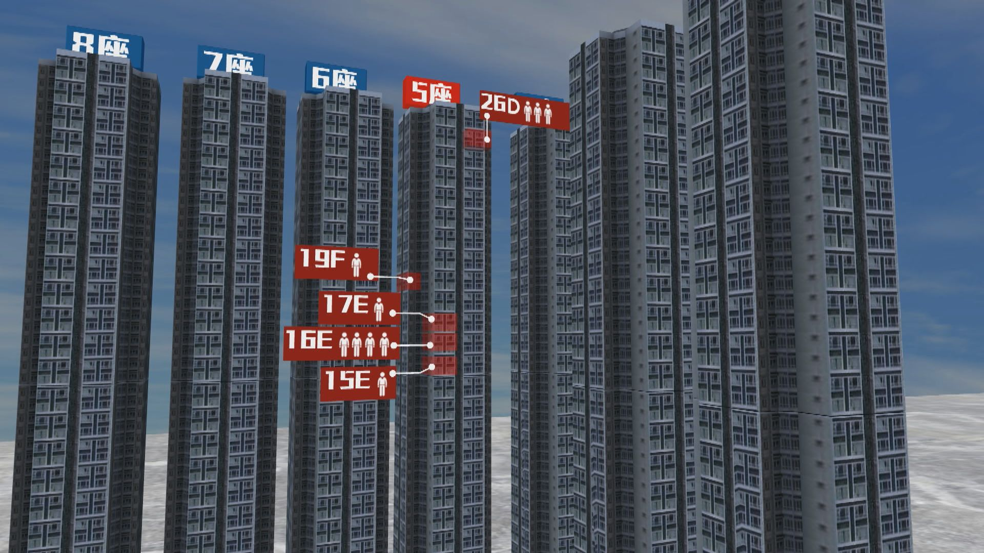 麗港城第五座最少12人確診 E室疑垂直傳播須撤離