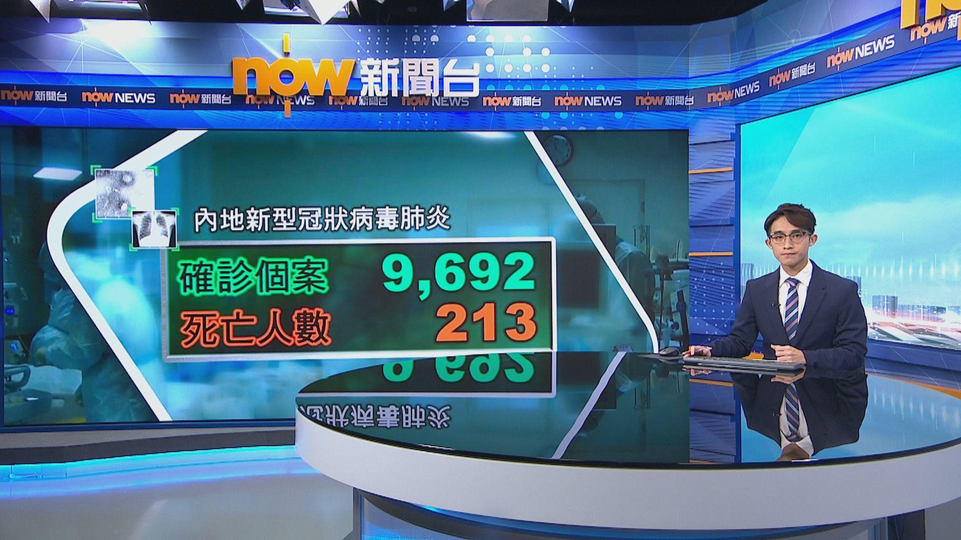新型冠狀病毒肺炎全球確診病例近一萬宗