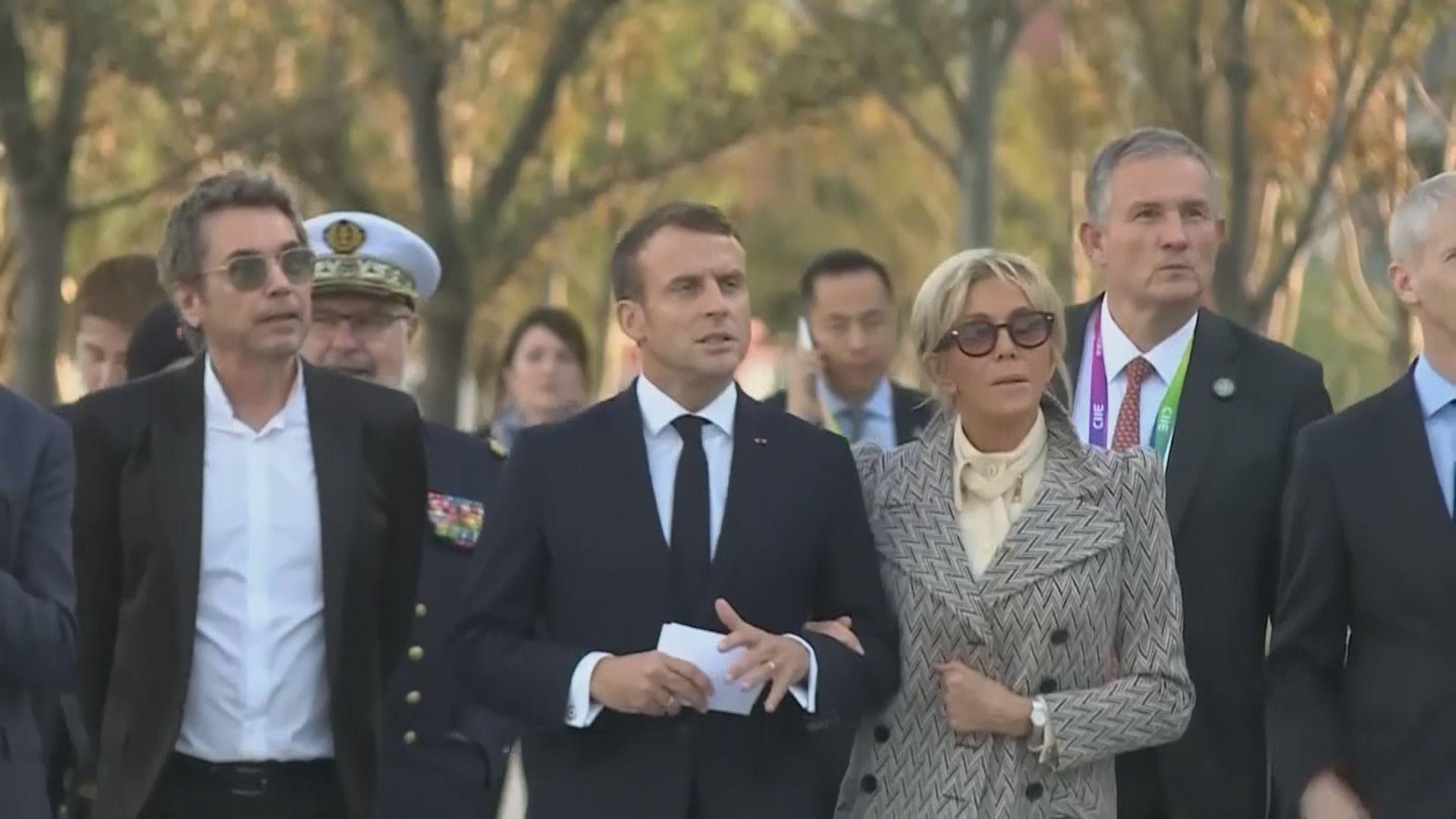 法國總統馬克龍確診新冠病毒前曾出席多項活動