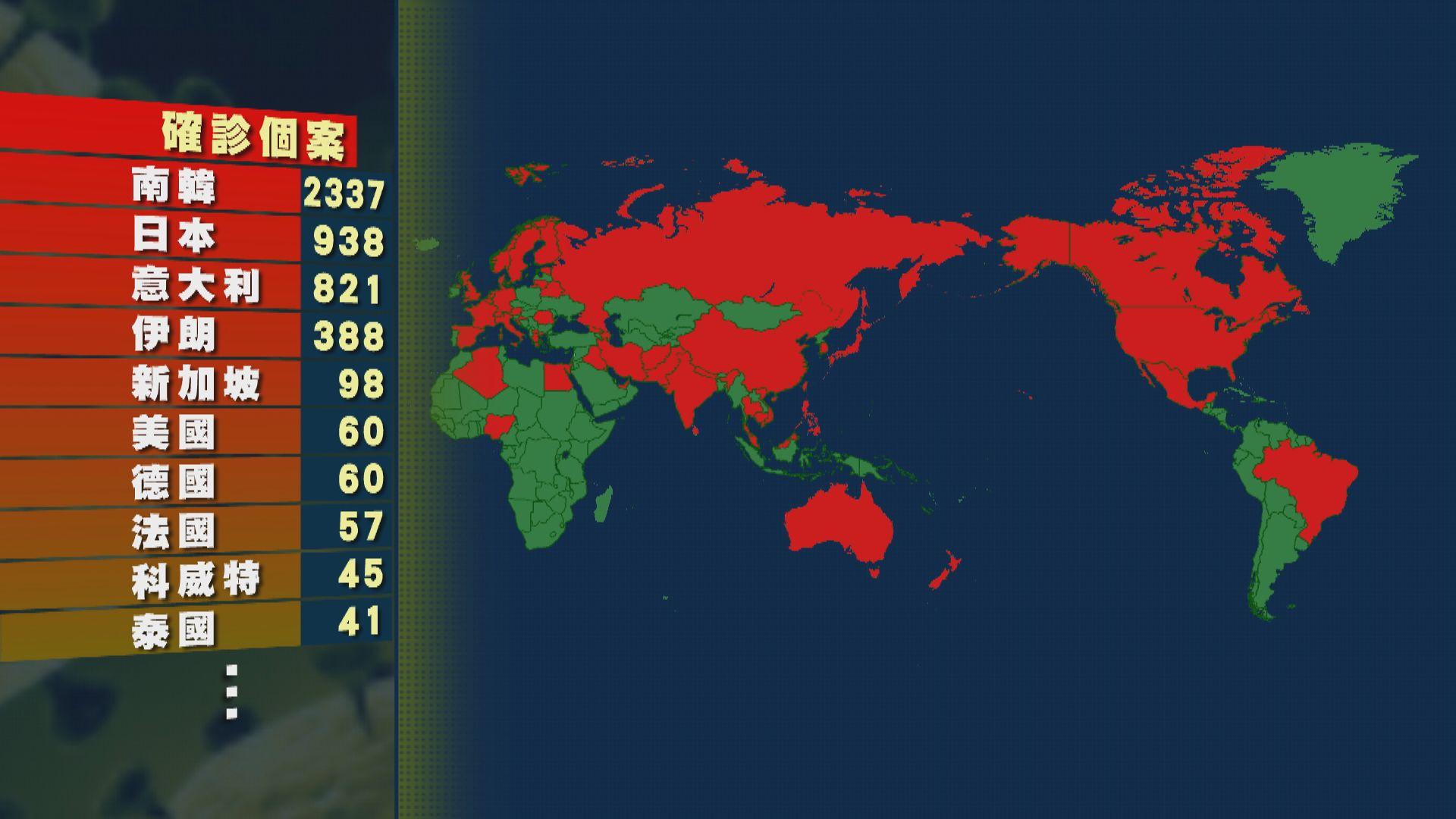全球新型冠狀病毒確診個案 超過八萬四千宗