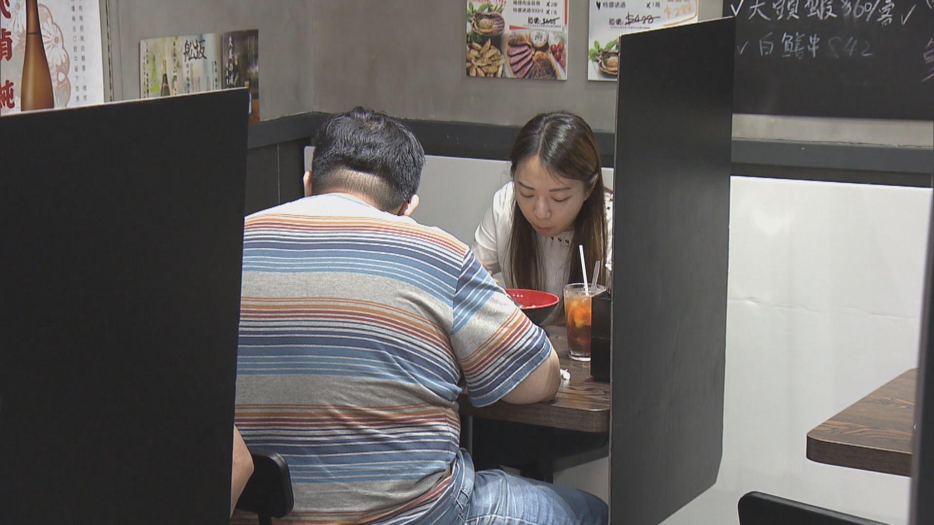 食肆每枱人數放寬至六人 酒吧每枱上限四人
