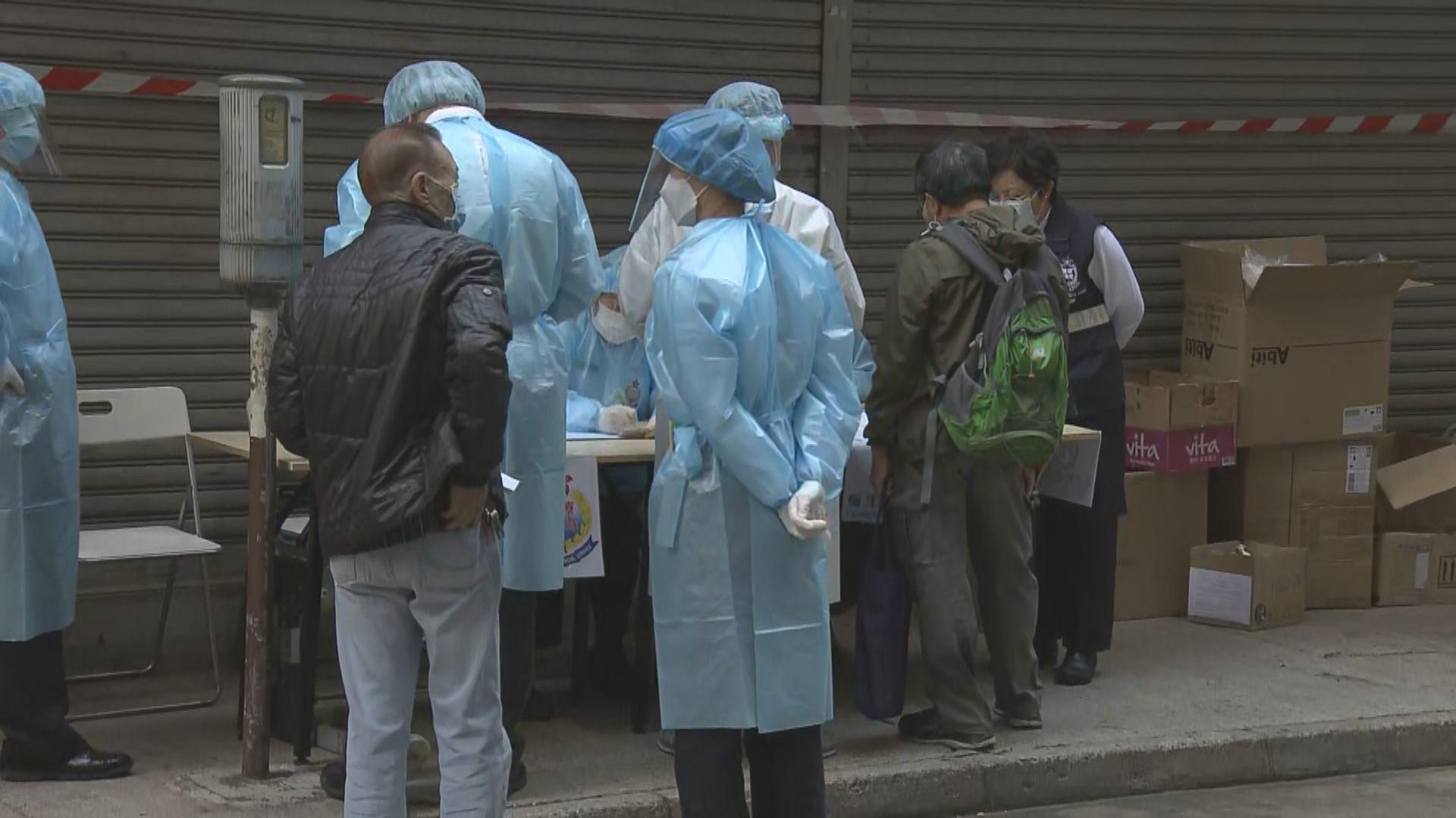 兩受限區域逾2200人接受檢測 油麻地一宗初步確診
