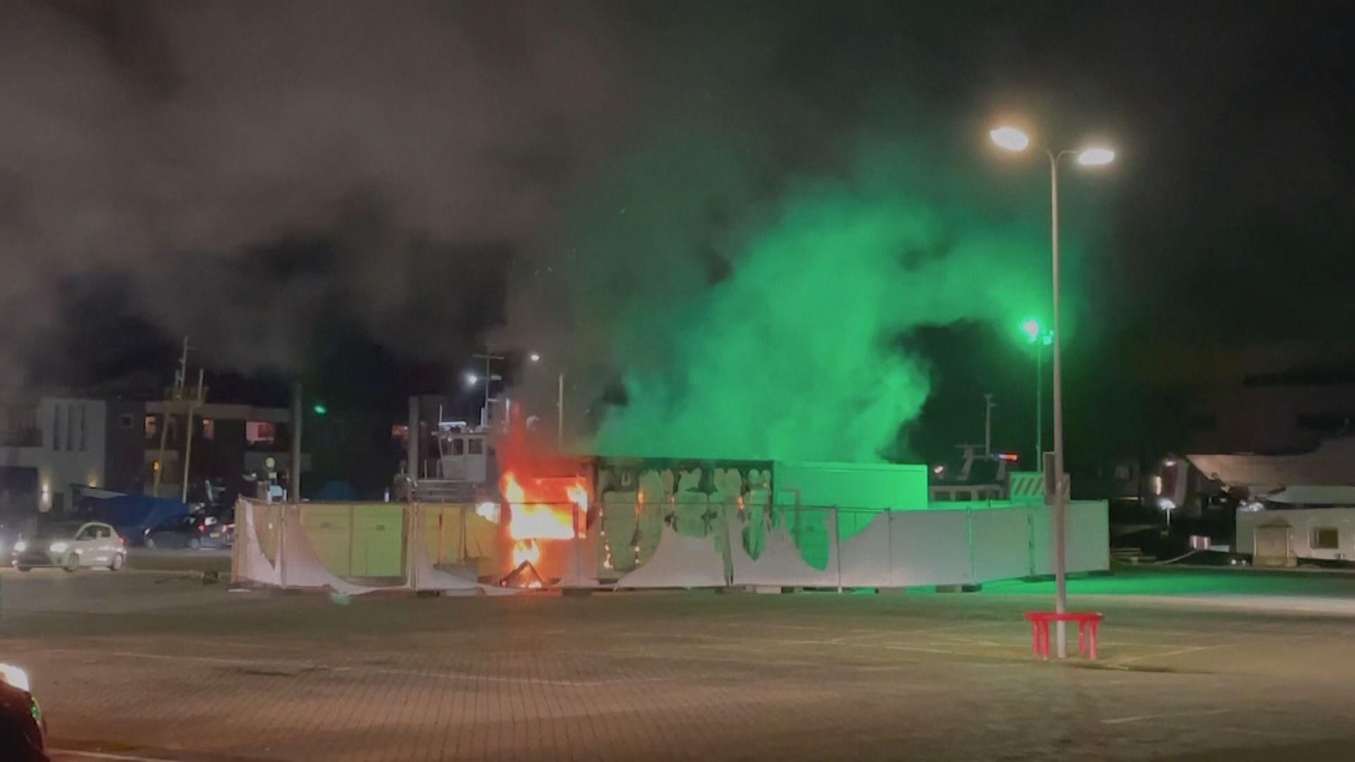 荷蘭有人不滿封城燒毀檢測中心