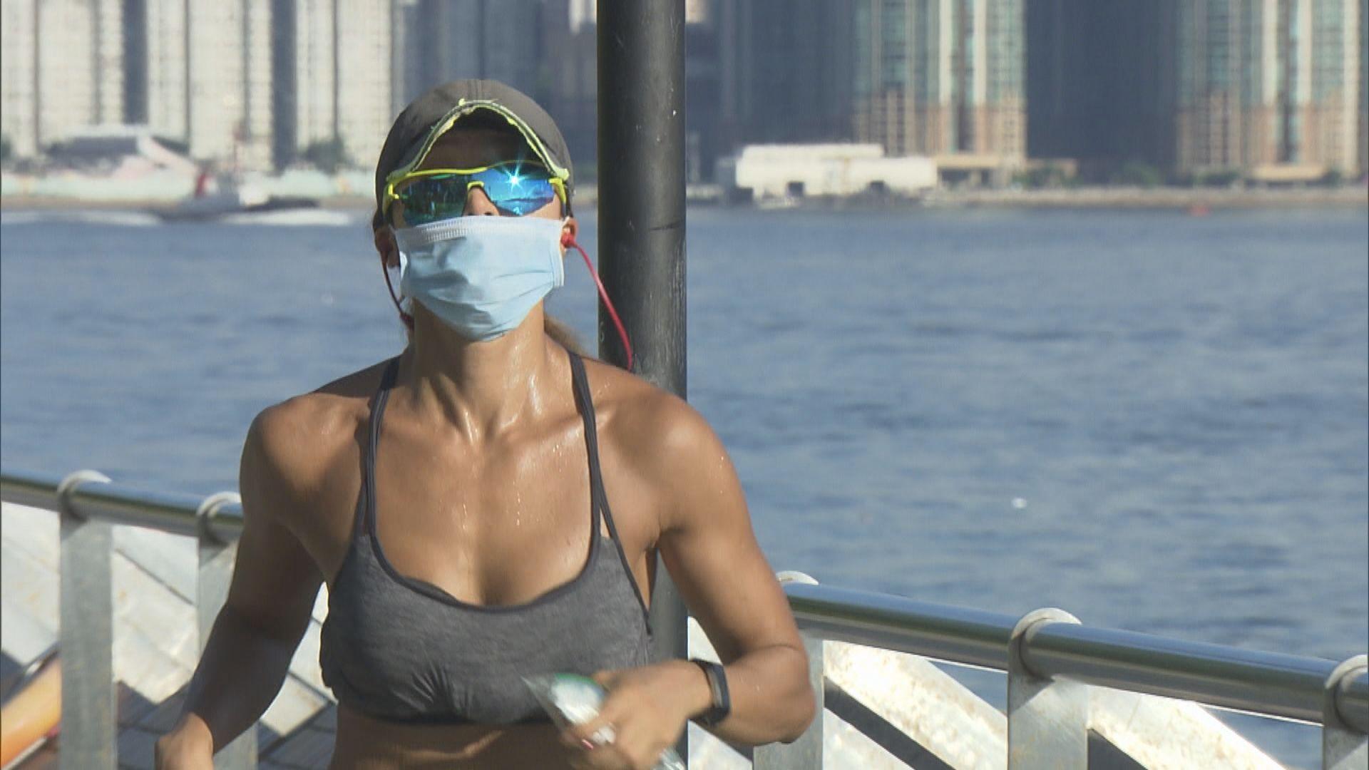 政府指消耗體力體能活動免戴口罩 執法人員會彈性處理