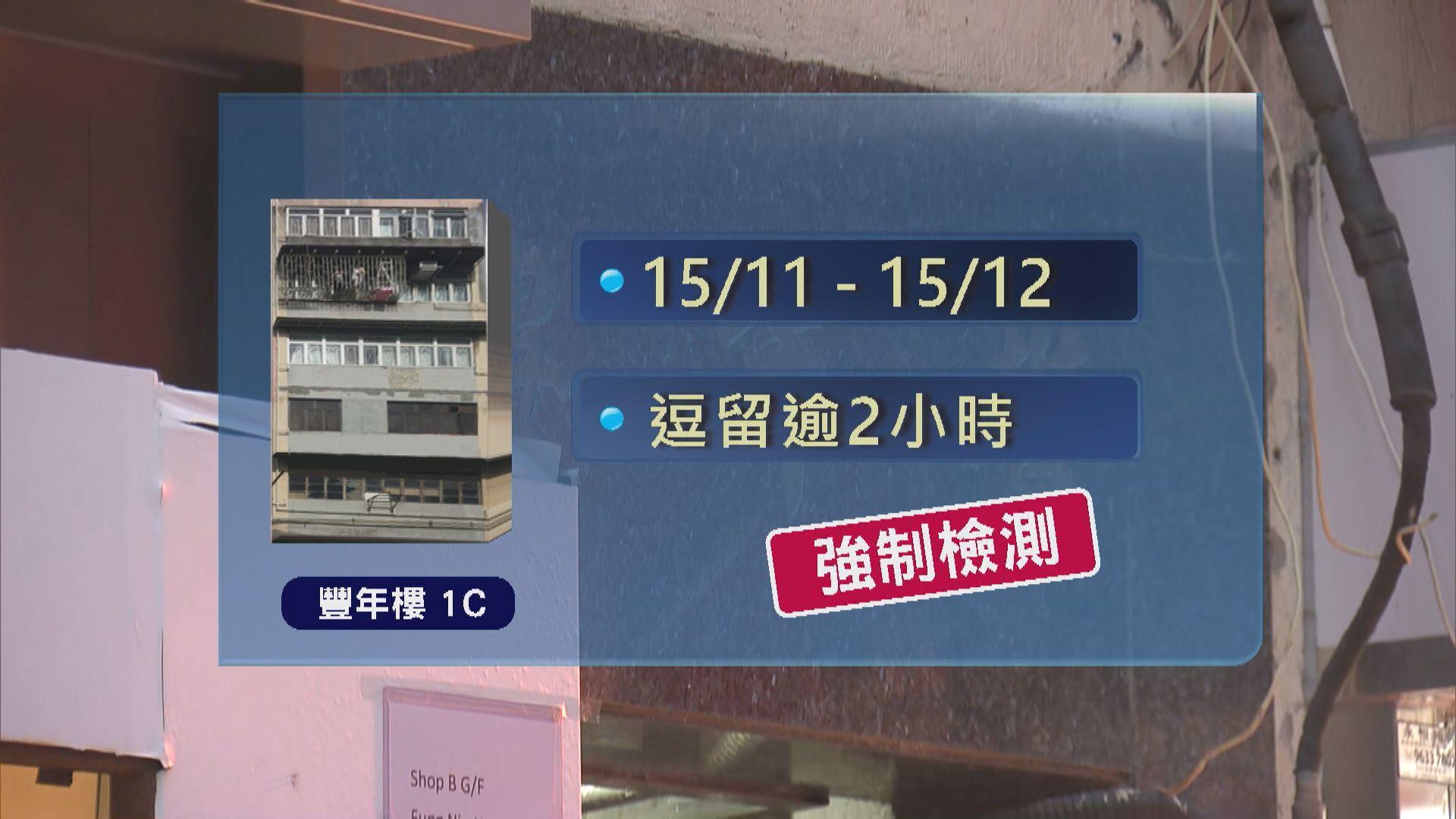 政府刊憲豐年樓宿舍、明麗樓及達怡樓住客強制檢測