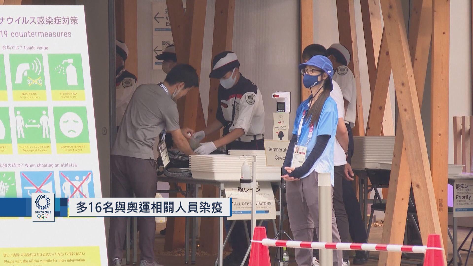 日本多16名與奧運相關人員染疫