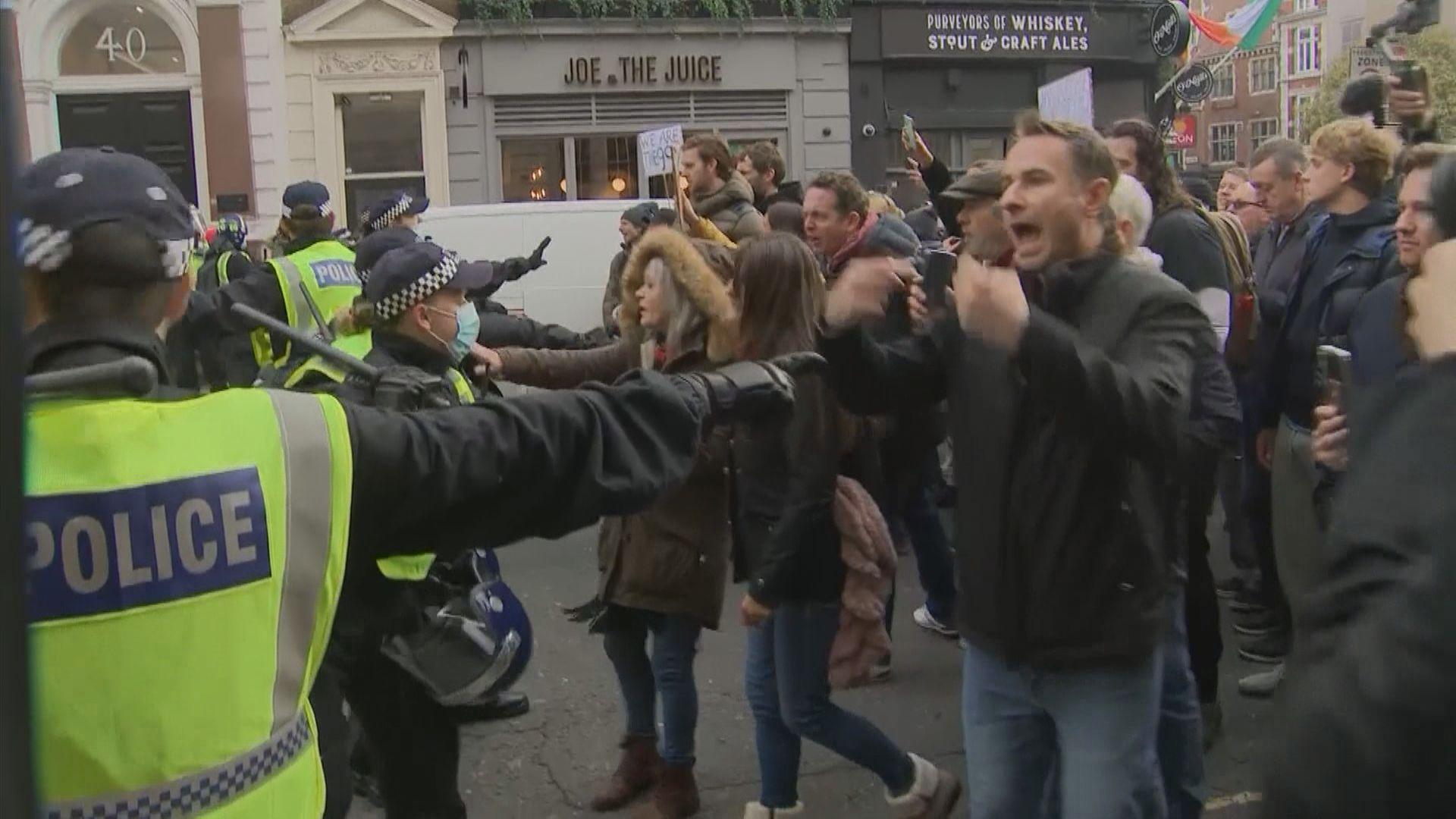 英國和德國有示威抗議政府防疫措施