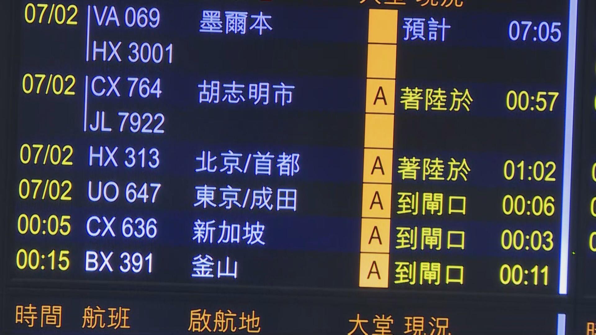 航班延誤至凌晨抵港 全機乘客須強制檢疫