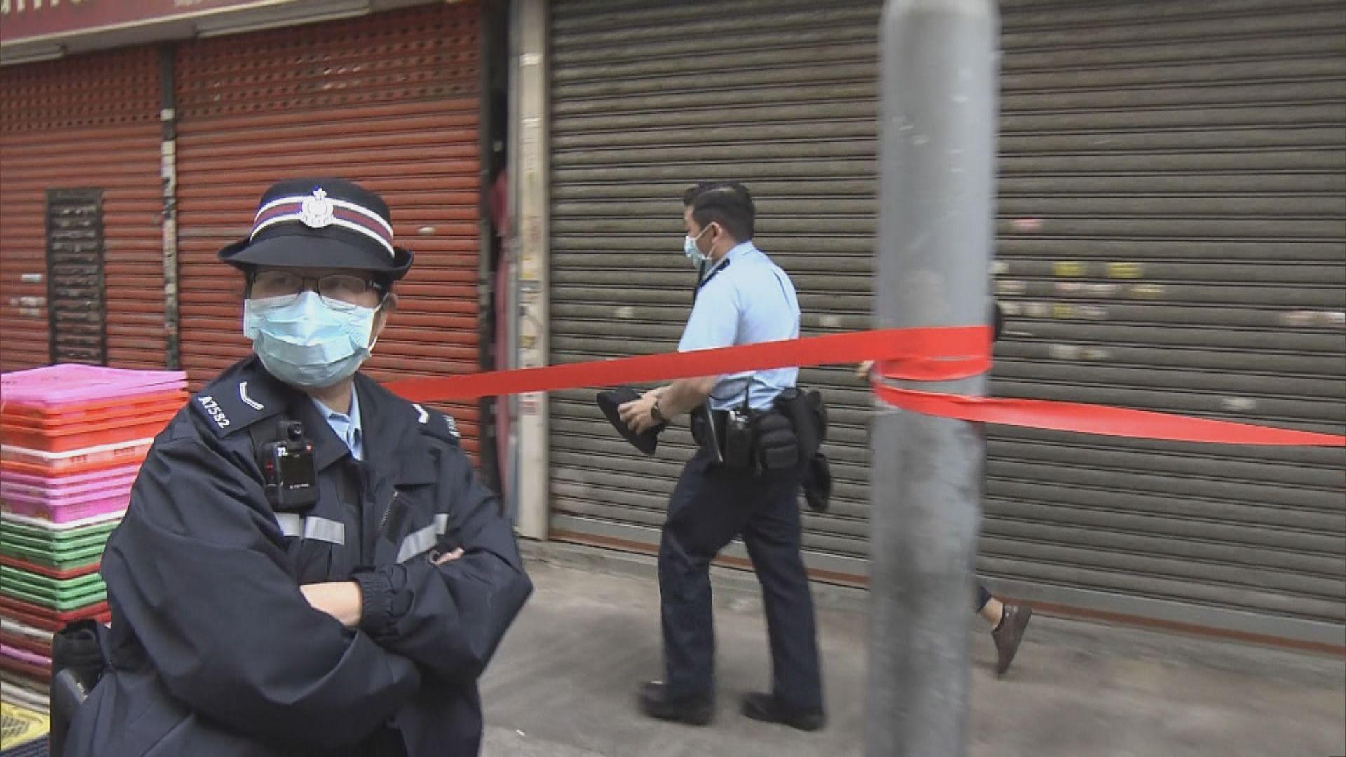 新填地街唐樓隔離令 警員駐守任何人不得進出