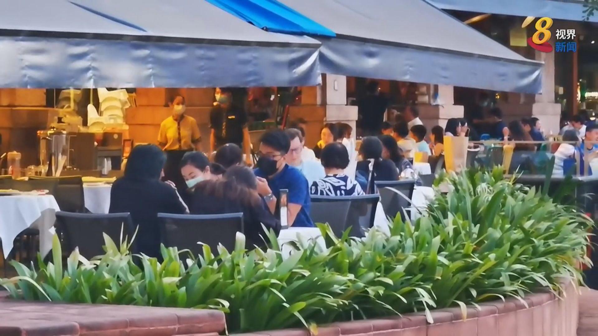 新加坡收緊防疫限制 民眾趕在禁令前外出用膳