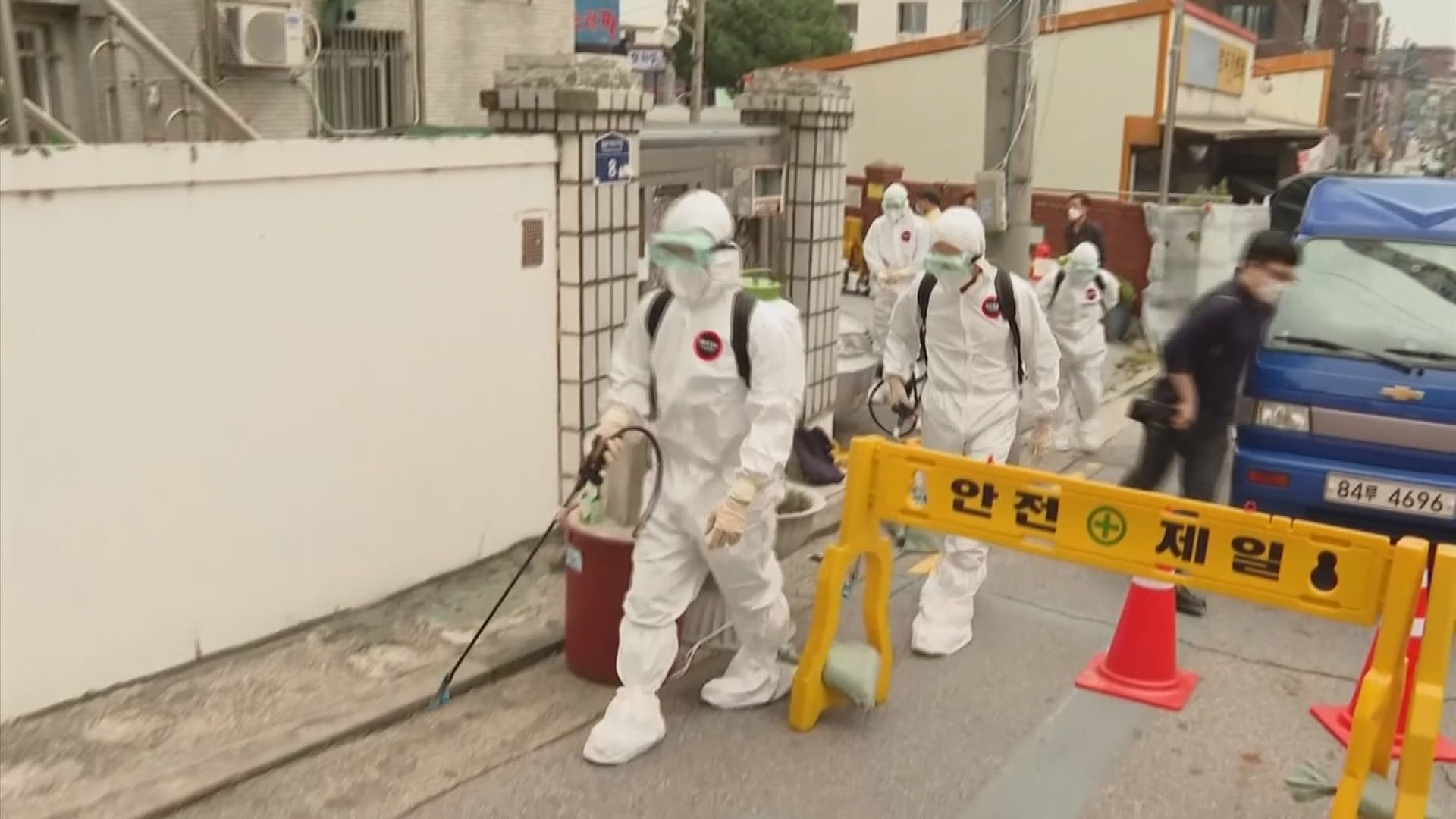 南韓新冠病毒新增確診個案連續六天達三位數