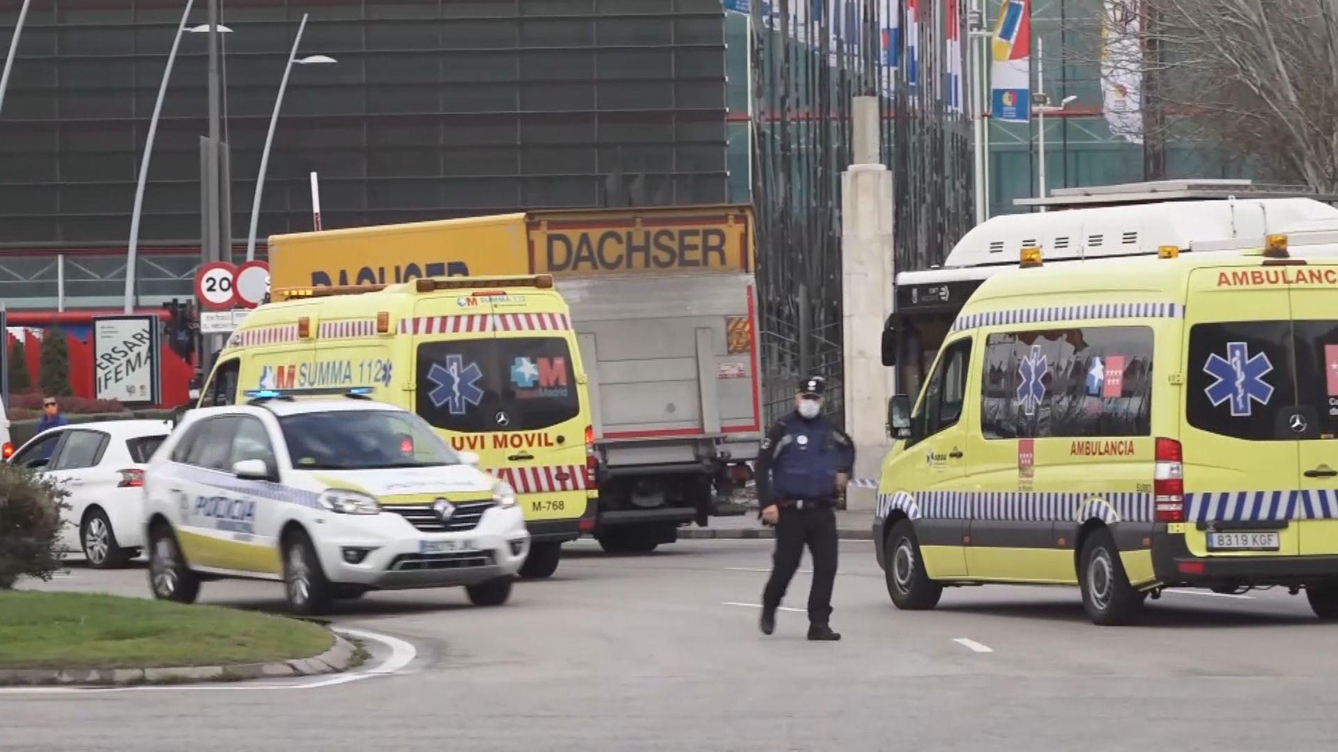 西班牙溜冰場改為臨時停屍間 處理確診病逝遺體