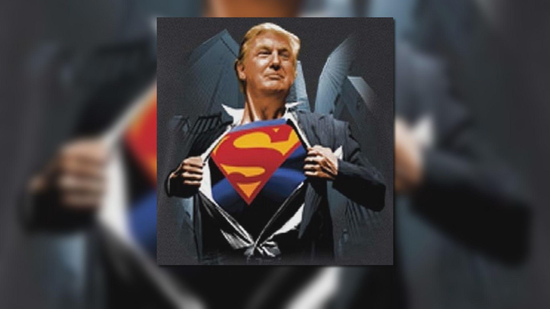 報道指特朗普擬穿超人T裇出院惹熱議
