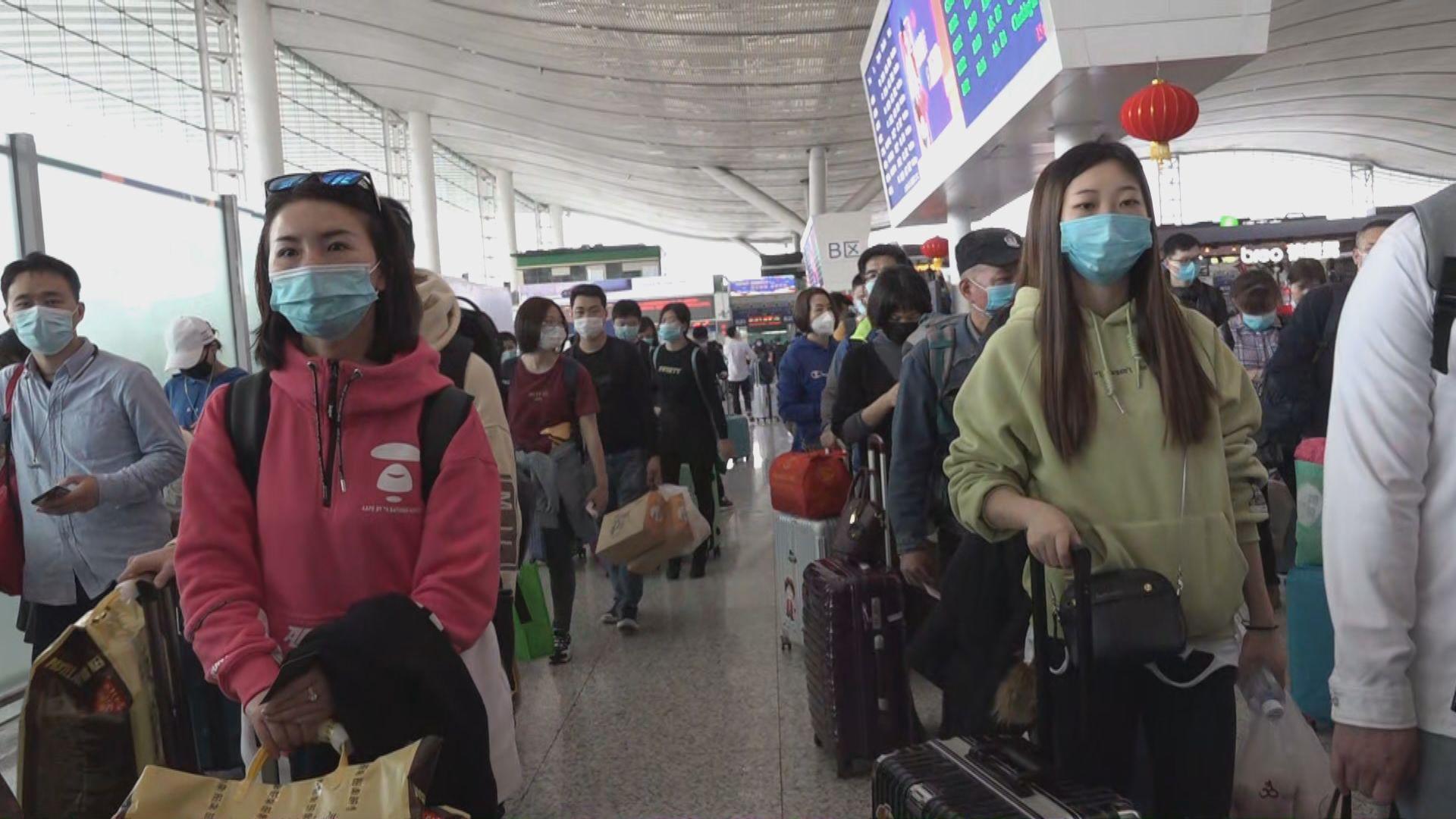 有武漢旅客計劃經深圳轉車到香港探親