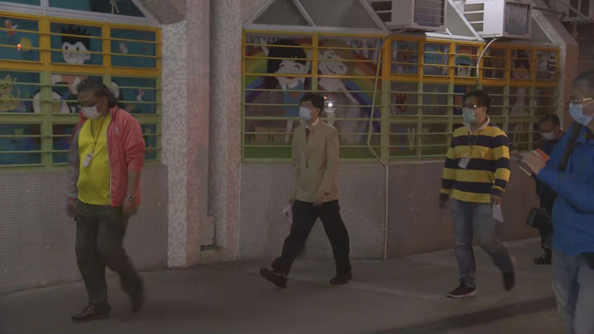 專家組晚上到富亨邨亨泰樓現場視察
