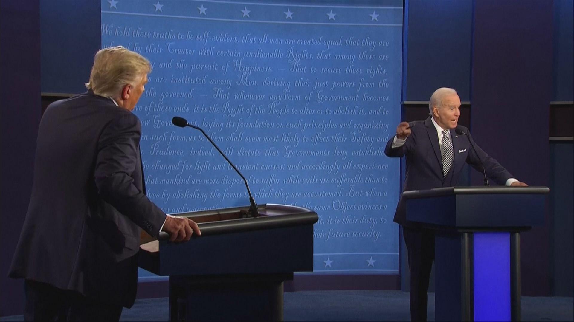 外界憂慮拜登或因與特朗普同台辯論染疫