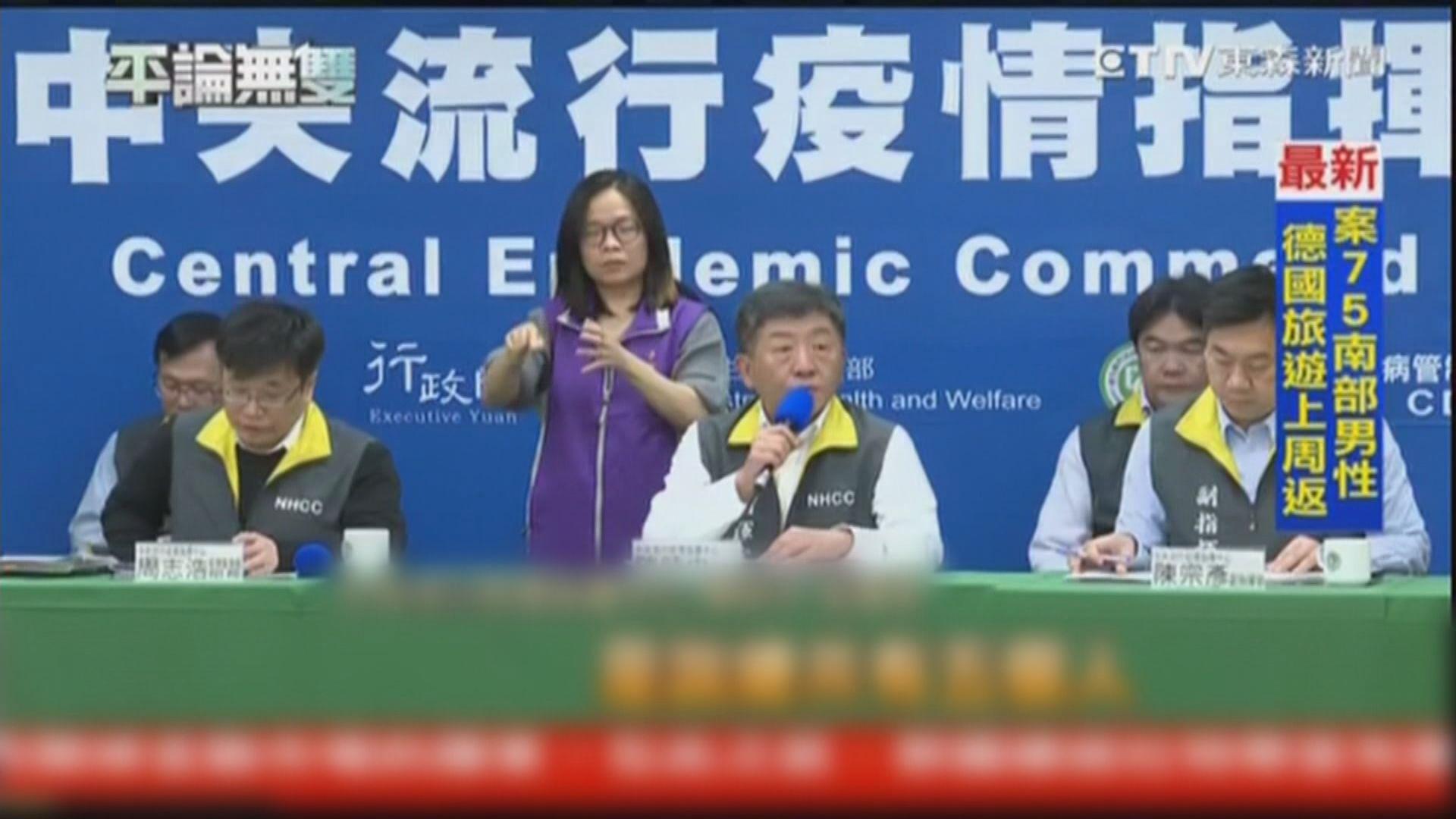 台灣新增十宗確診 均由外地傳入
