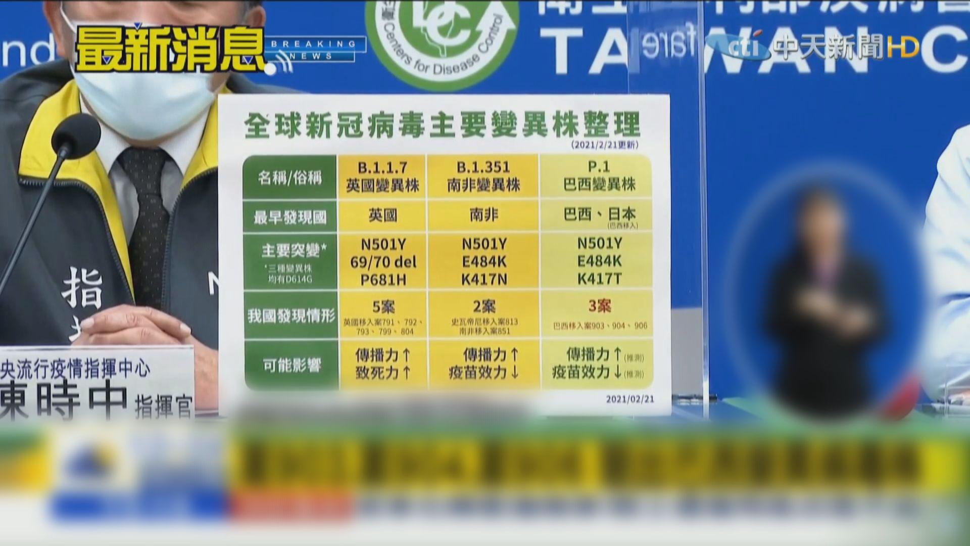 台灣周三起強制隔離檢疫巴西入境旅客