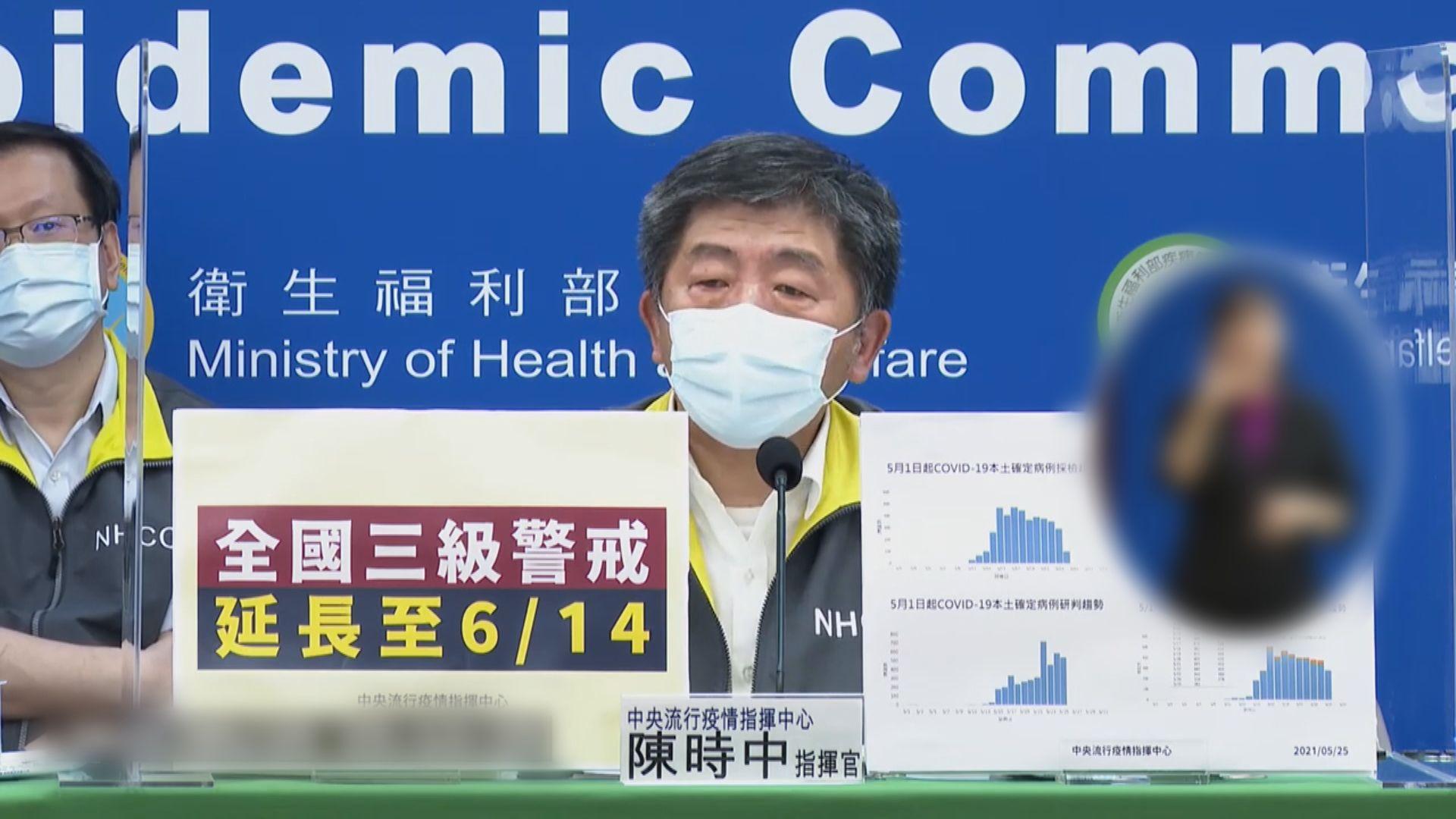 台灣本島各縣市均出現疫情 三級警戒延長至6月14日