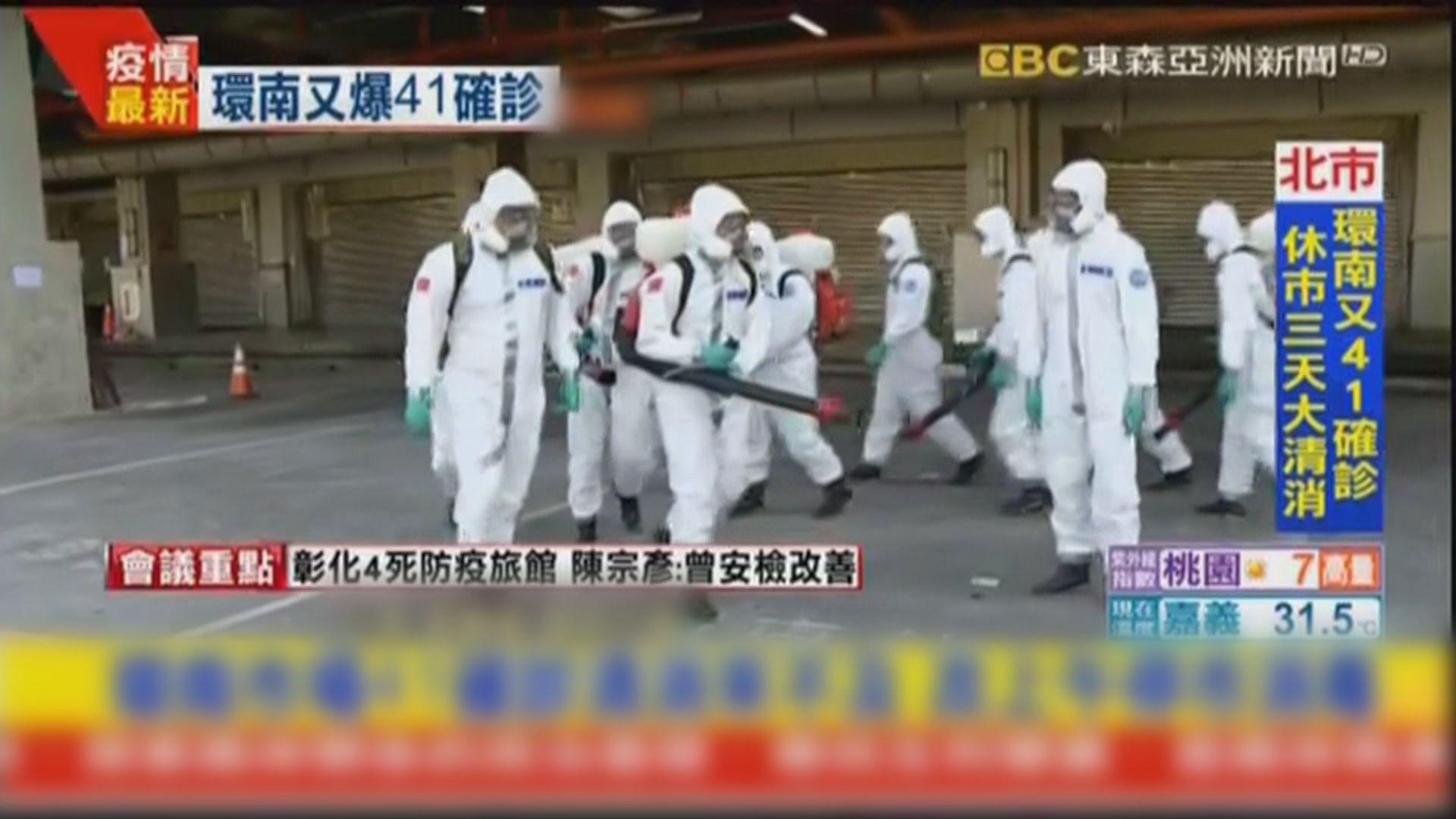 台北環南市場41人確診 市場休市三天消毒