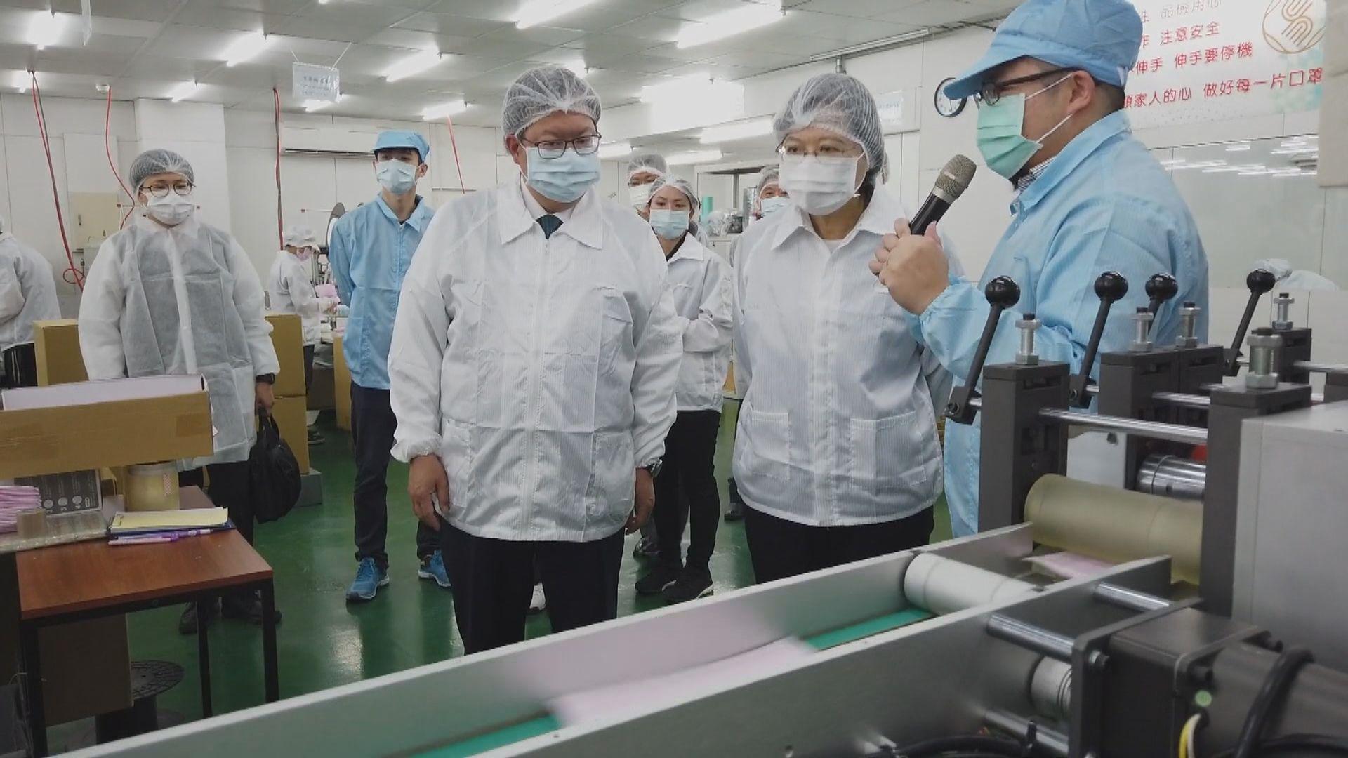 蔡英文:台灣單日口罩產量可突破一千萬個