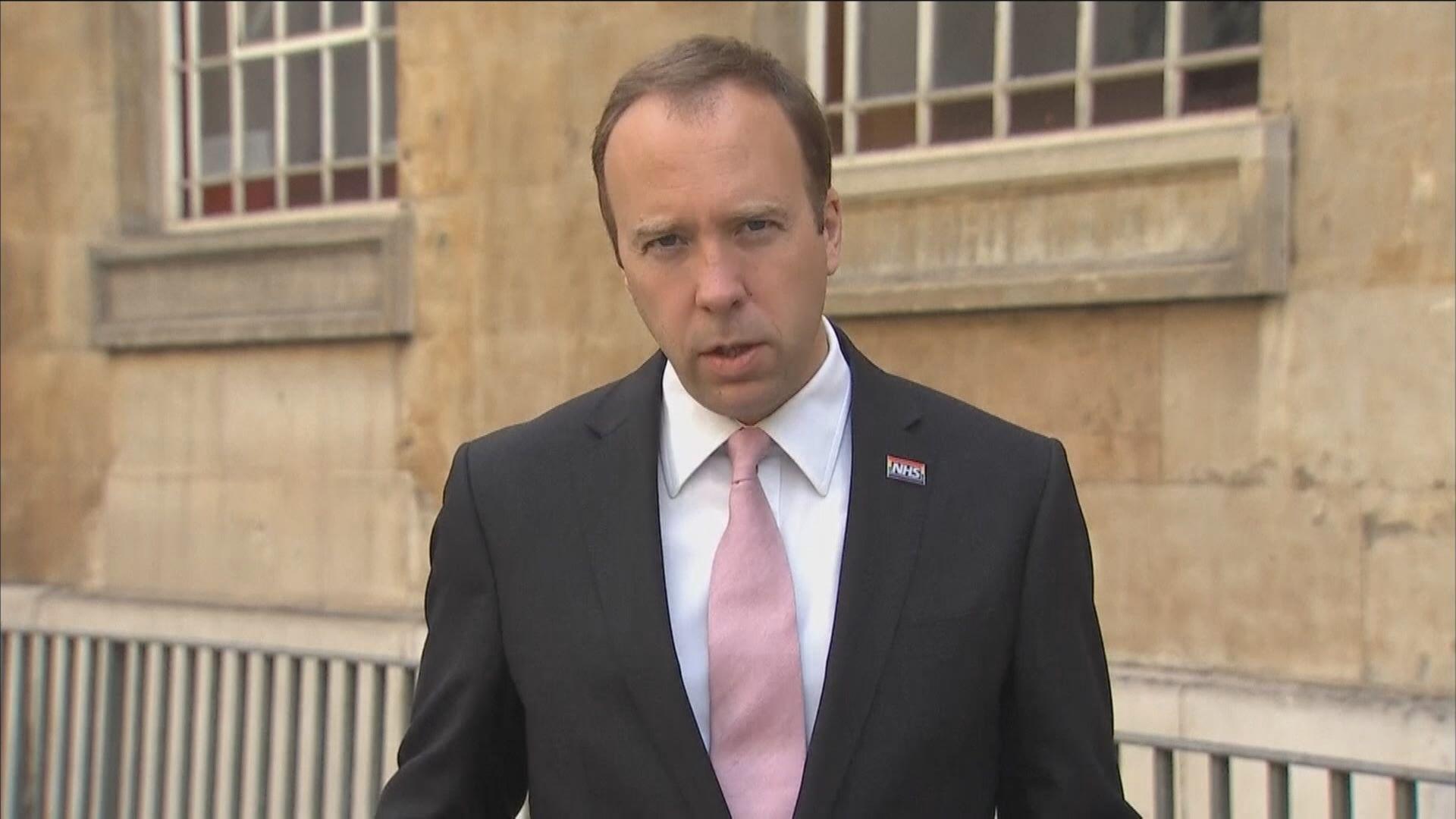 英國衞生大臣警告或因應疫情再度封城